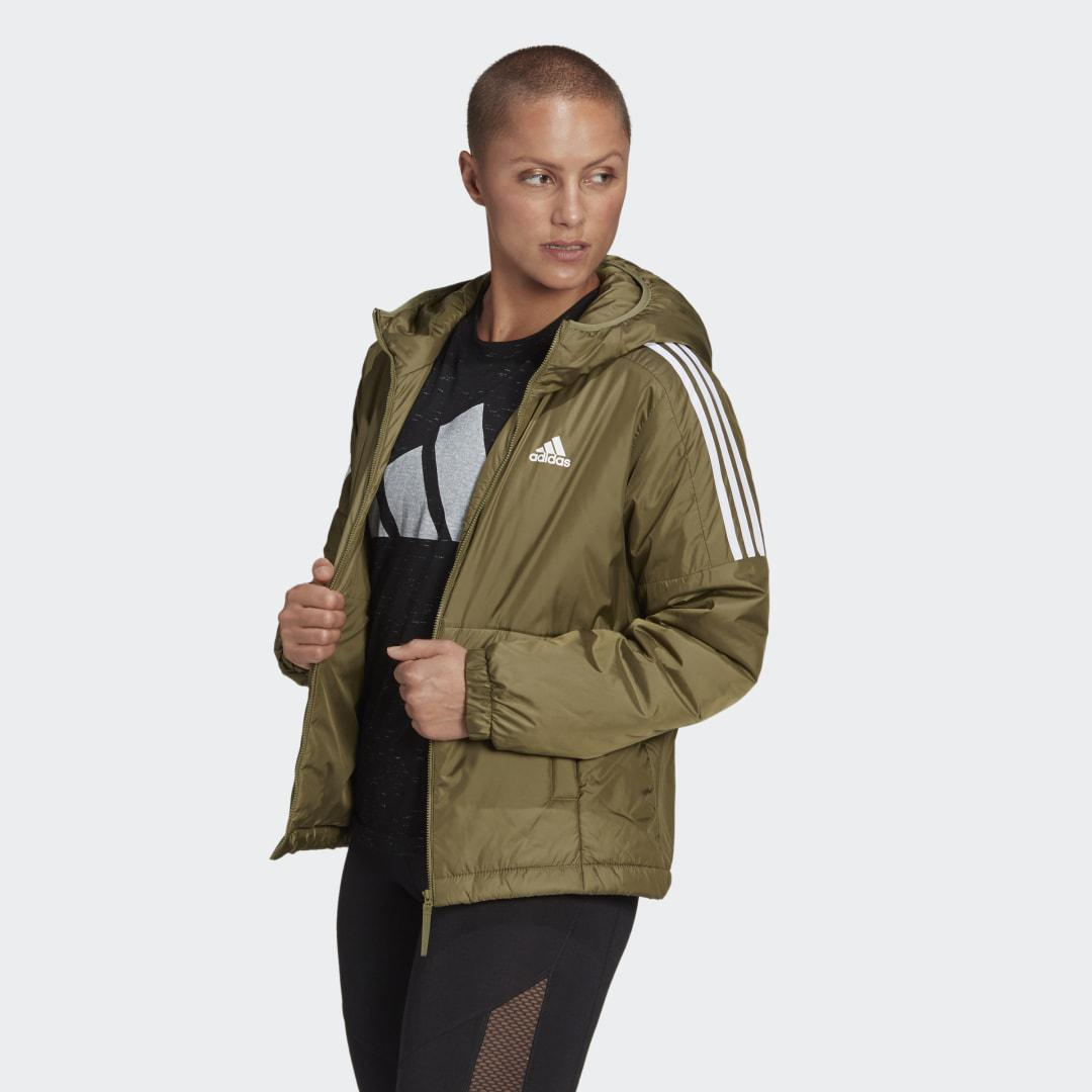 Essentials Insulated Hooded Jacket Focus Olive