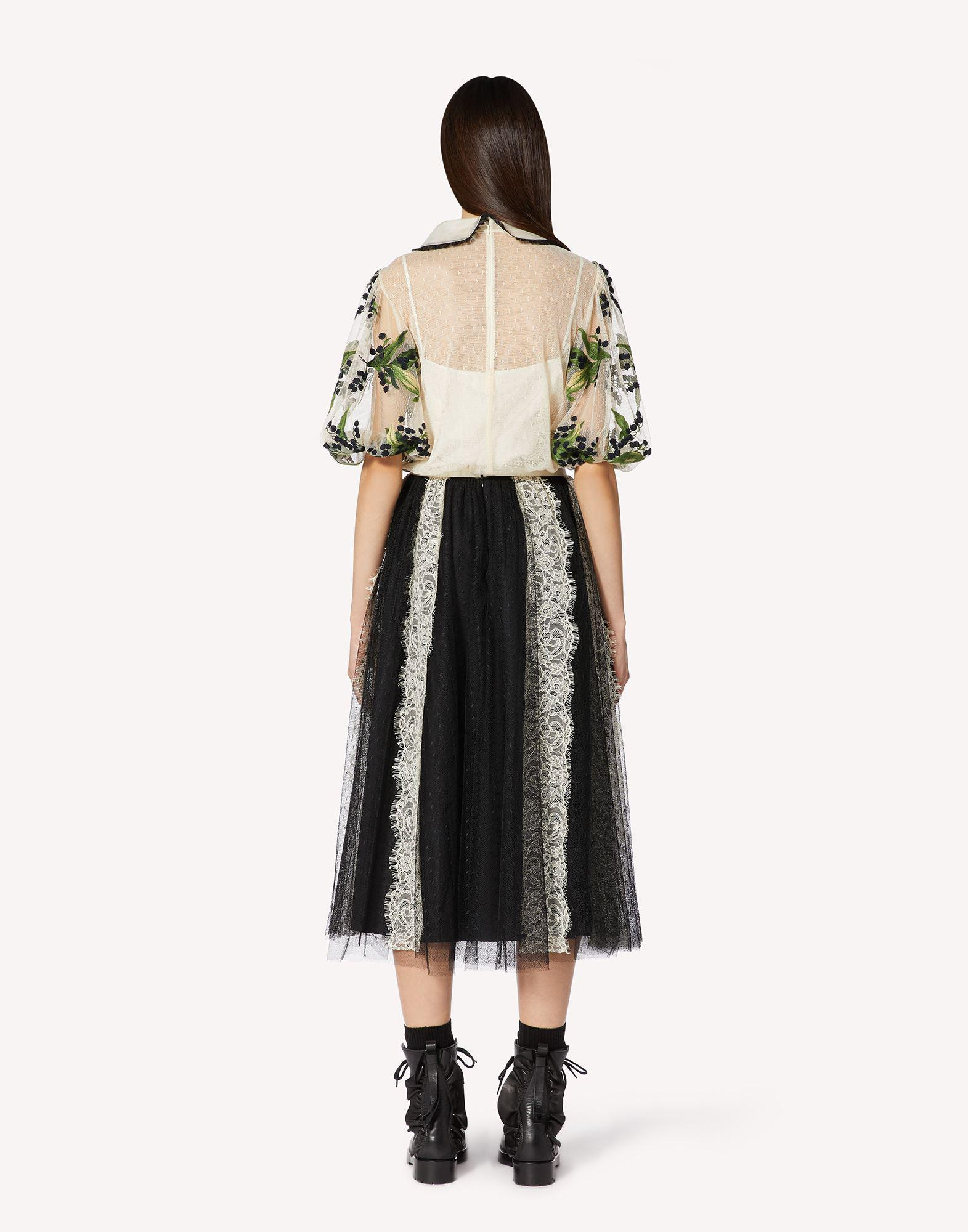 POINT D'ESPRIT TULLE SKIRT WITH LACE RIBBONS 1