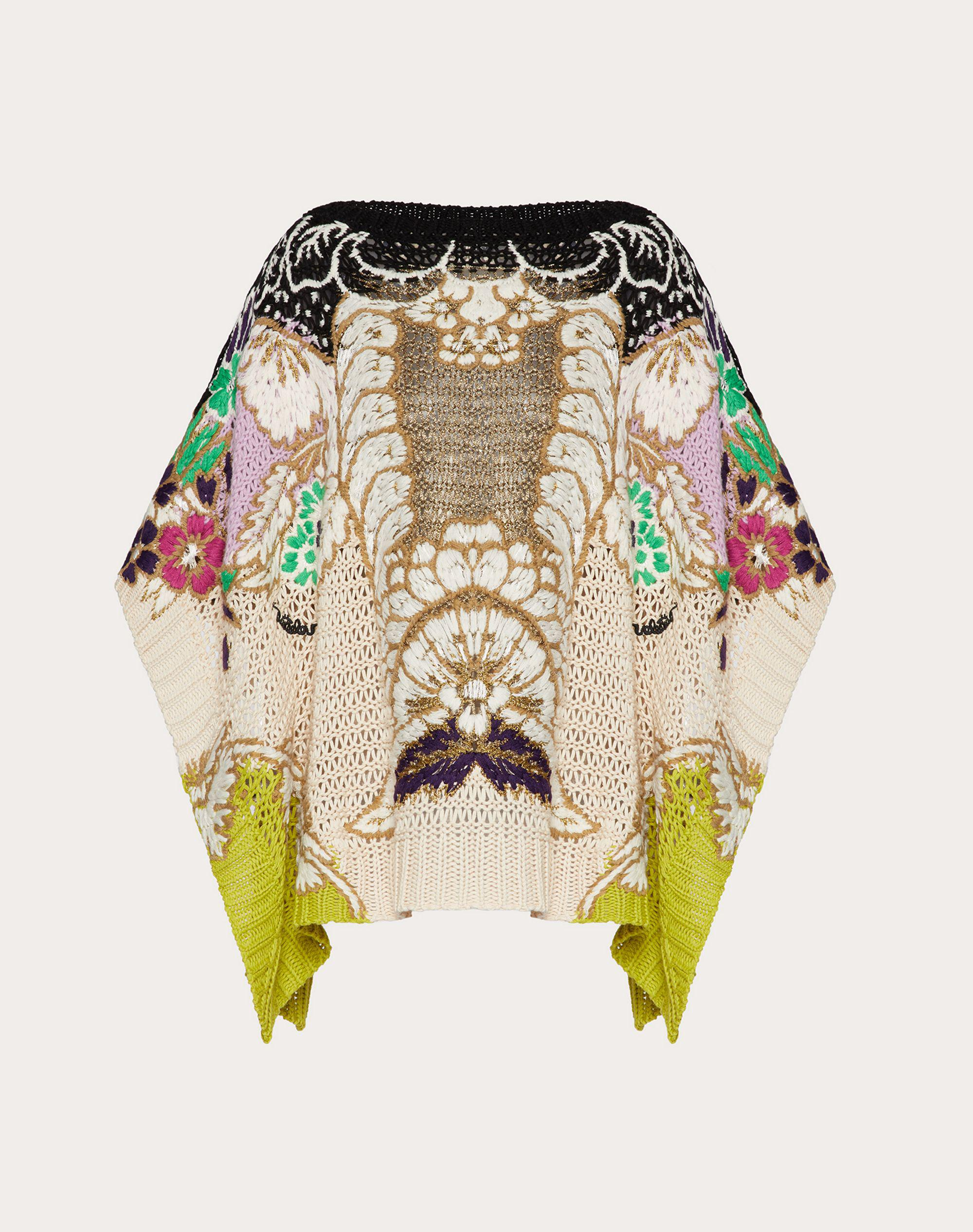 EMBROIDERED SWEATER IN COTTON LUREX WOOL 4