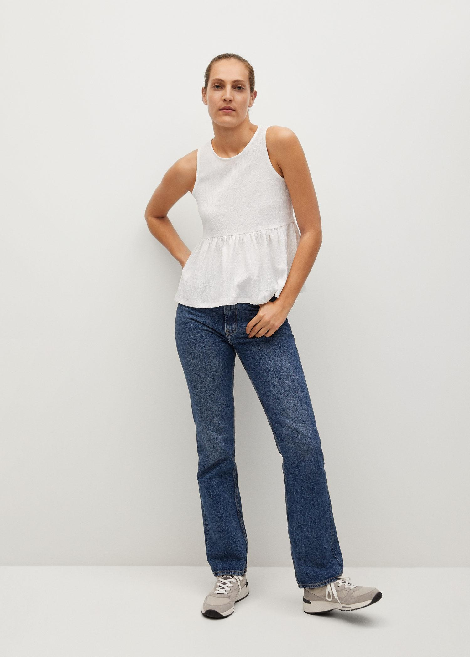 Top with ruffle texture 1
