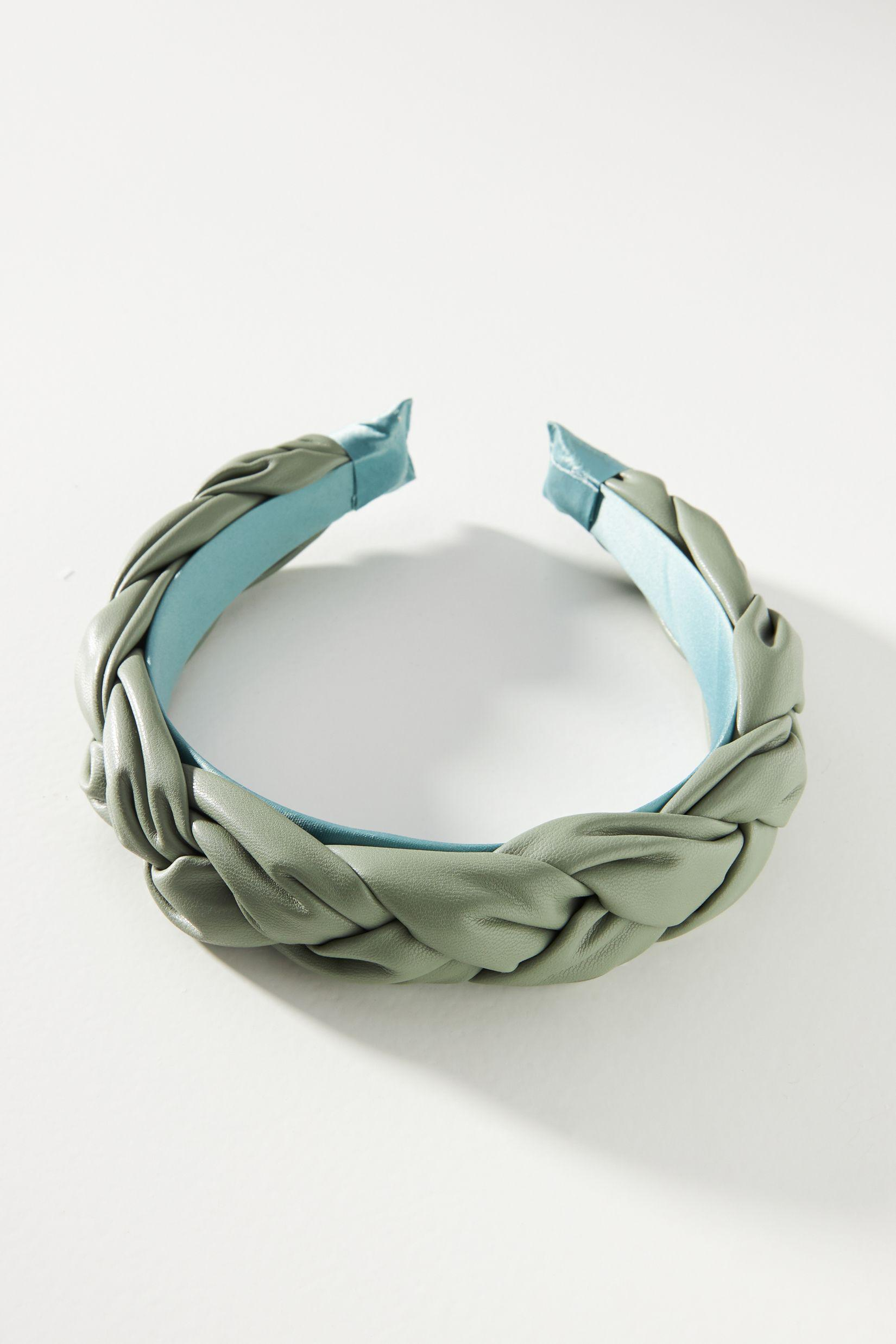Puffy Faux Leather Woven Headband