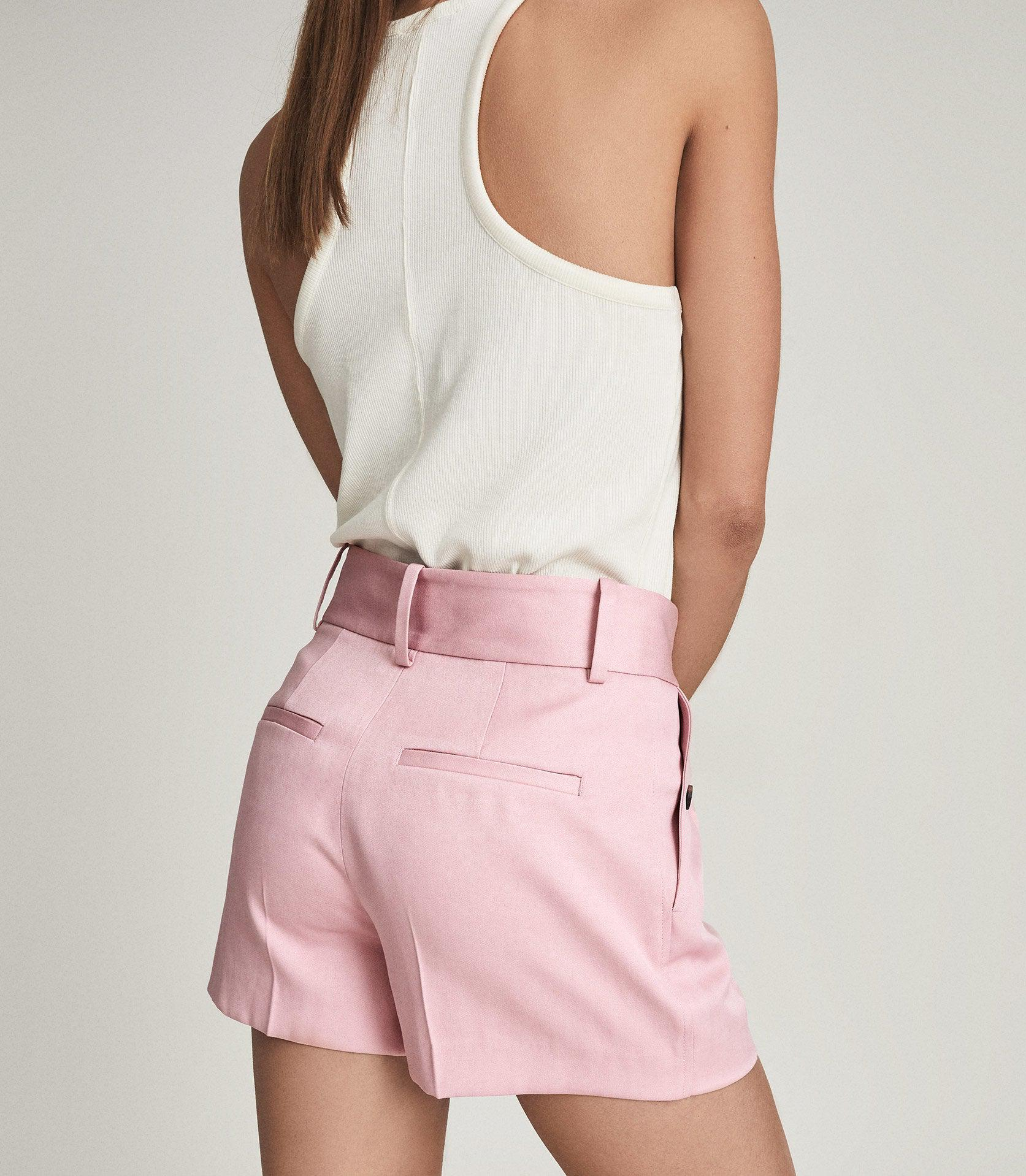 EMBER - TAILORED PLEAT FRONT SHORTS 5