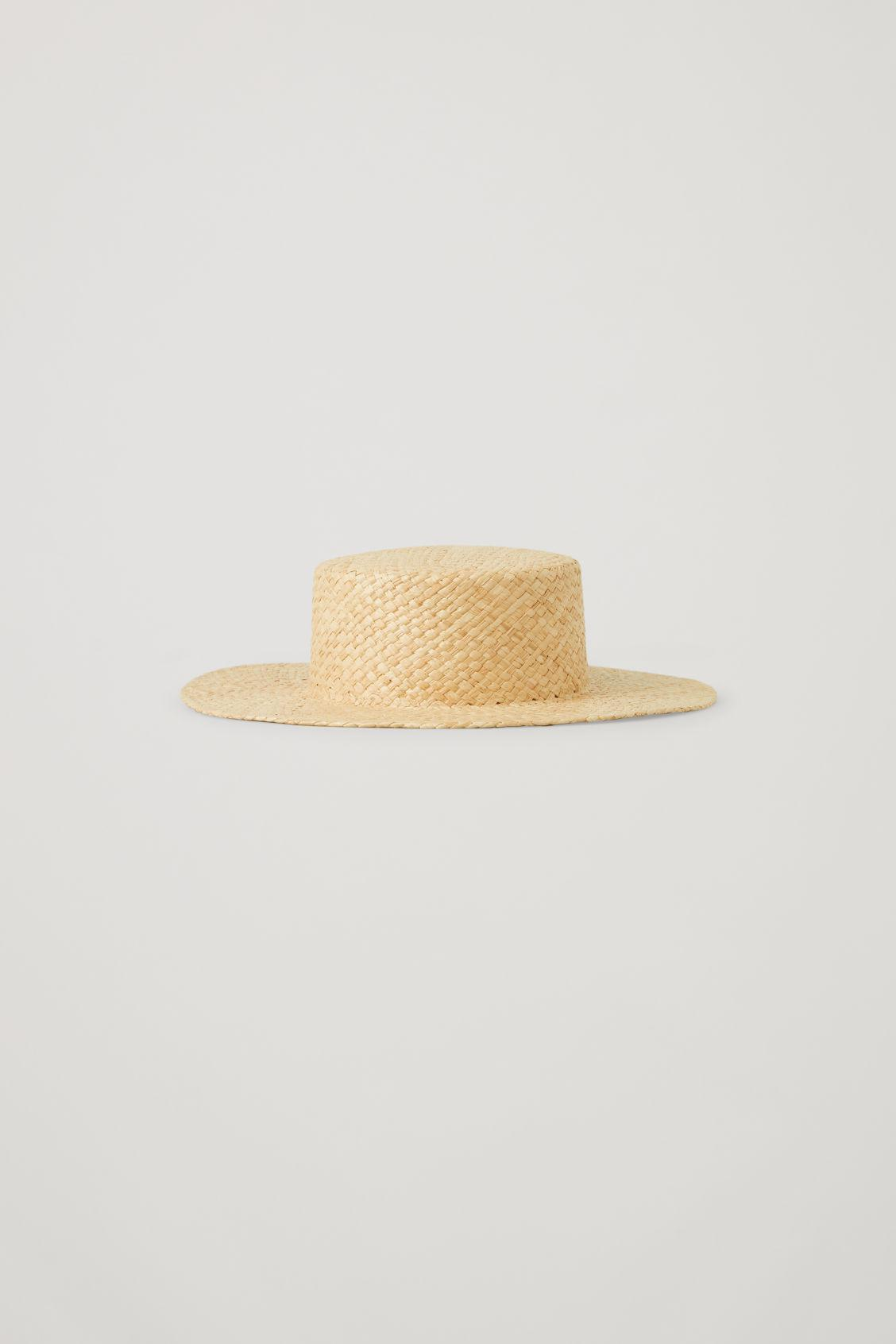 OVERSIZED STRAW BOATER HAT