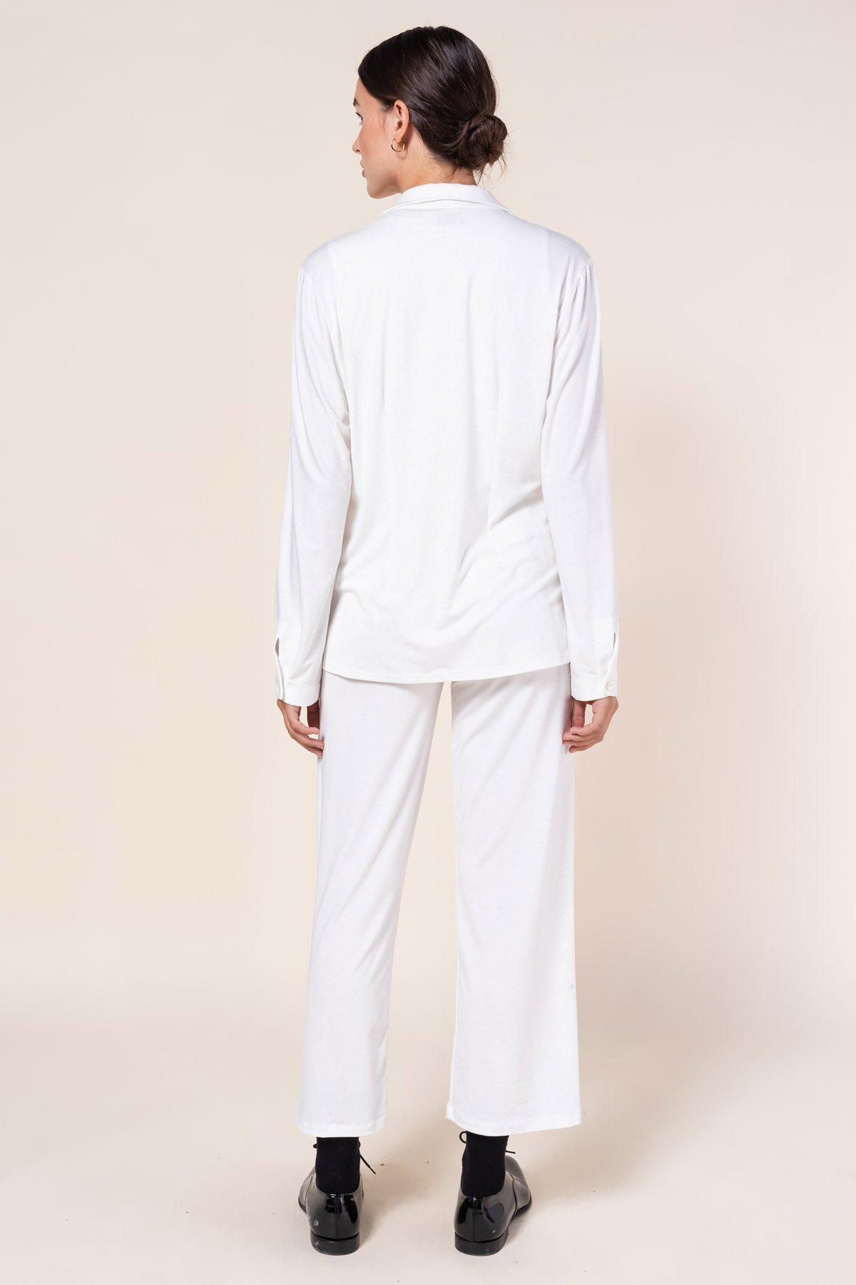 Dylan Fitted Button Down - White 3