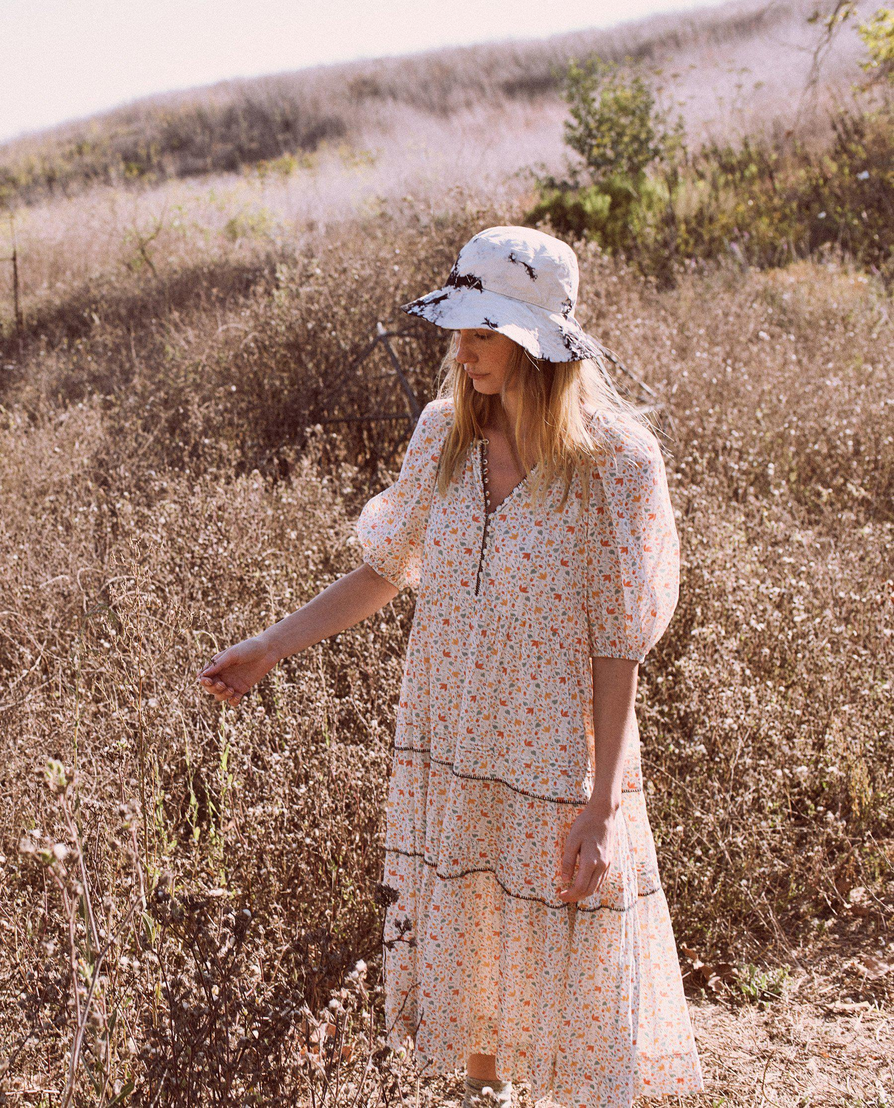 The Whip Stitched Ravine Dress. -- Pastel Floral