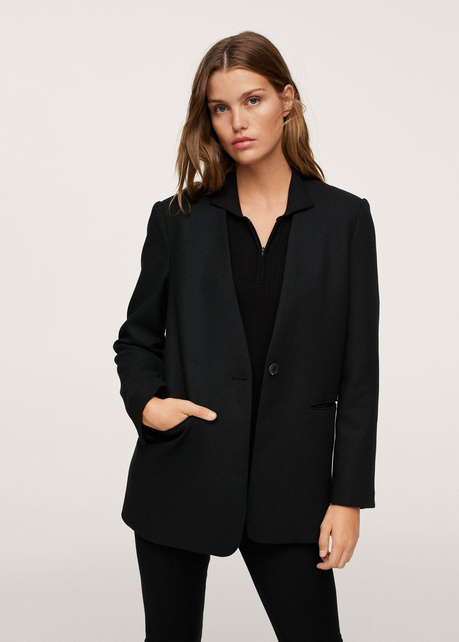Structured blazer without lapels