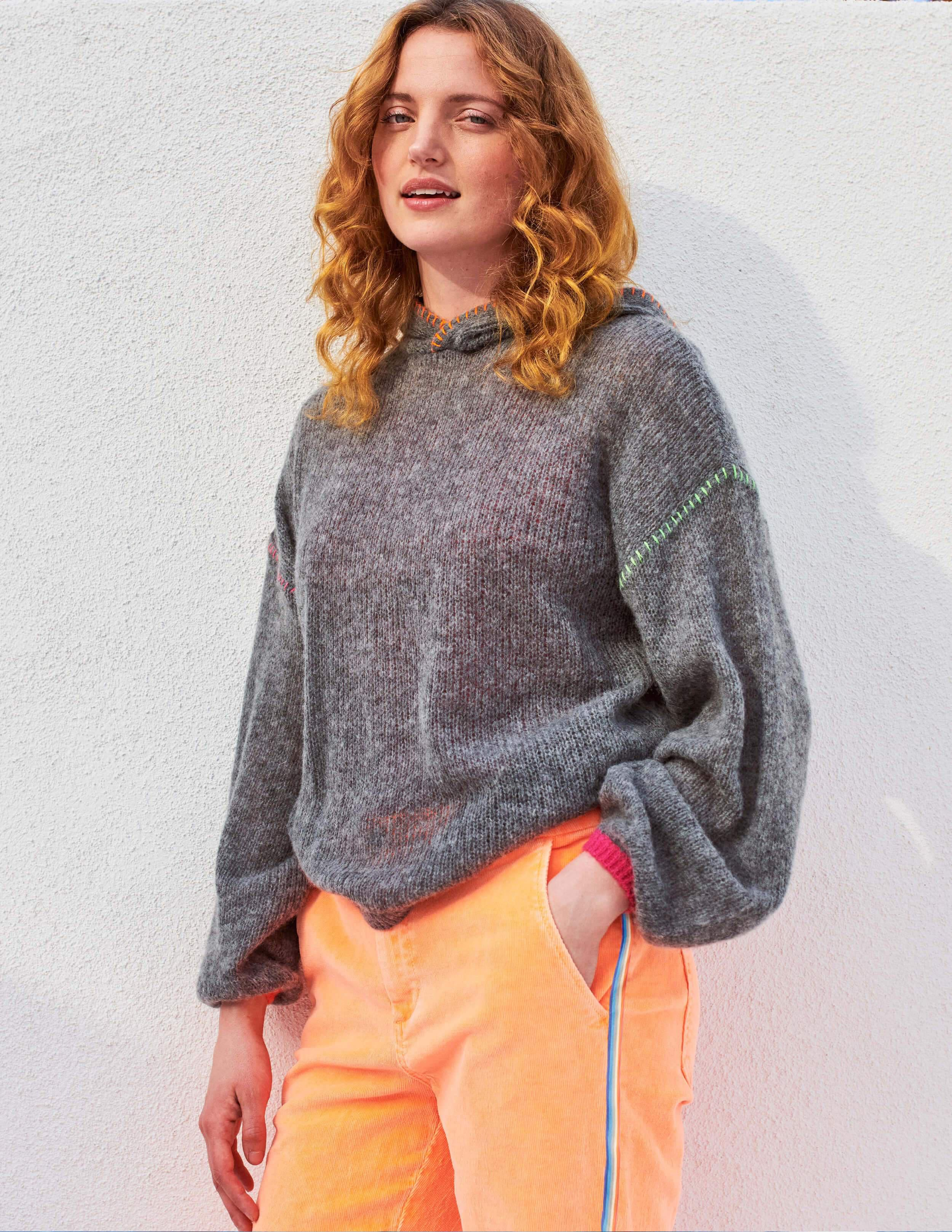 Pop Embroidery Oversize Hoodie