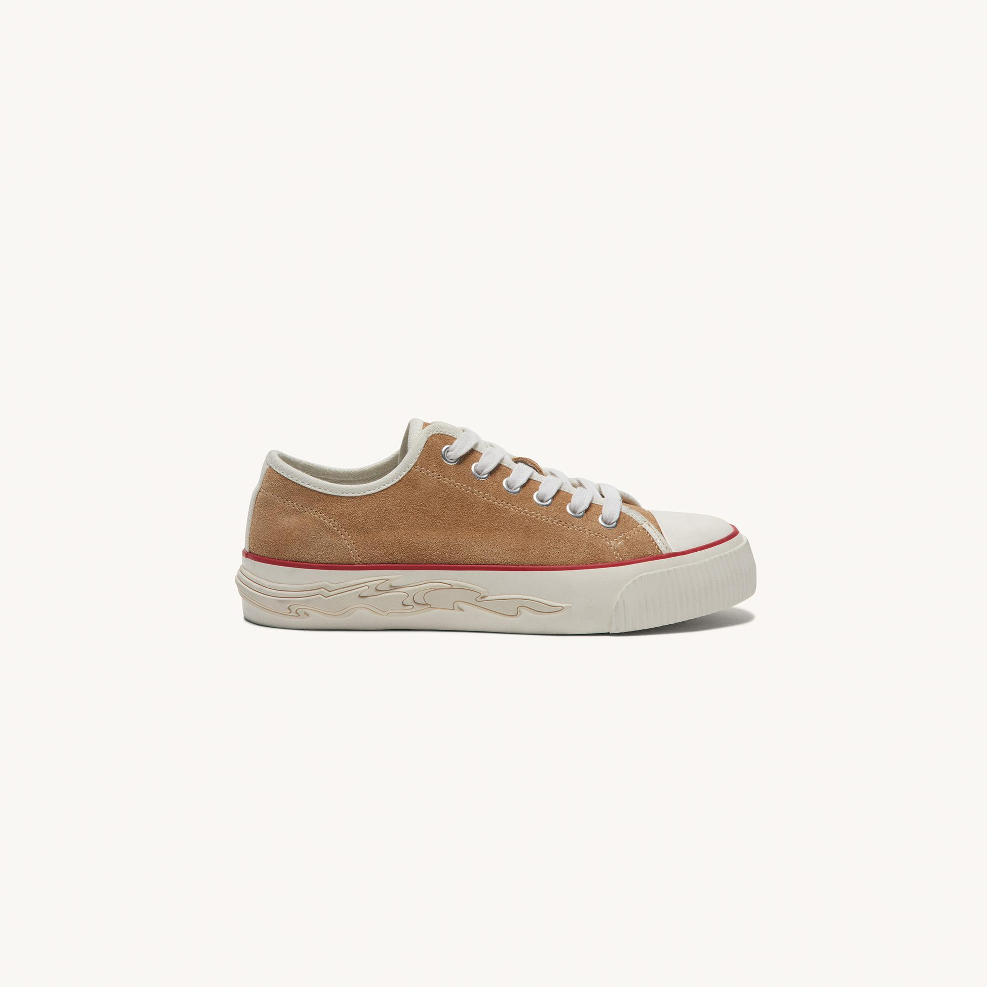 Suede sneakers with flame sole 1