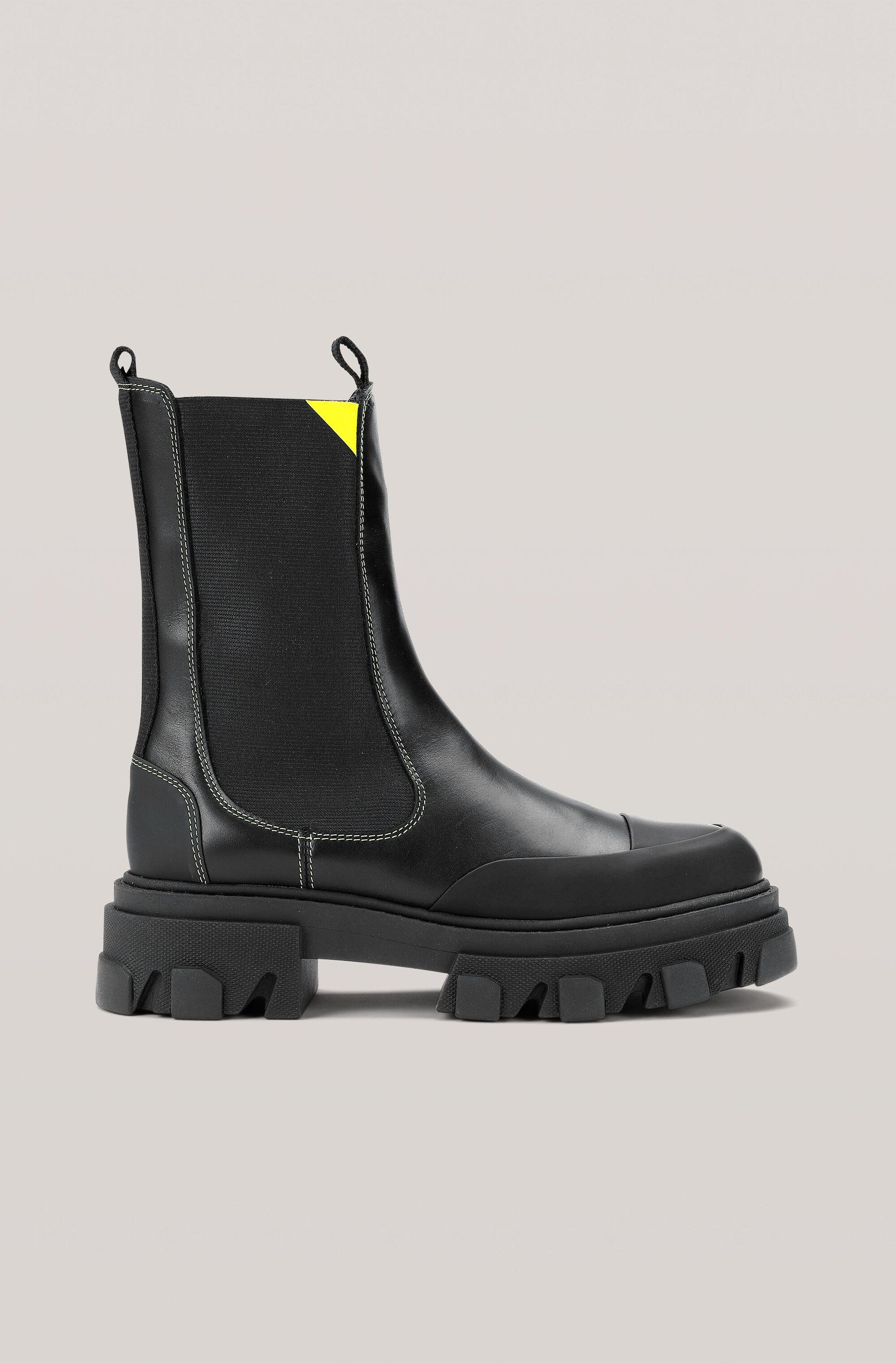 Calf Leather Mid Chelsea Boot
