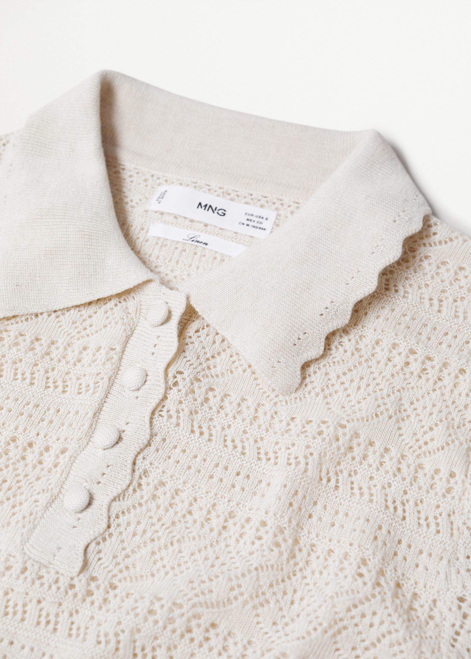 Openwork knit polo 6