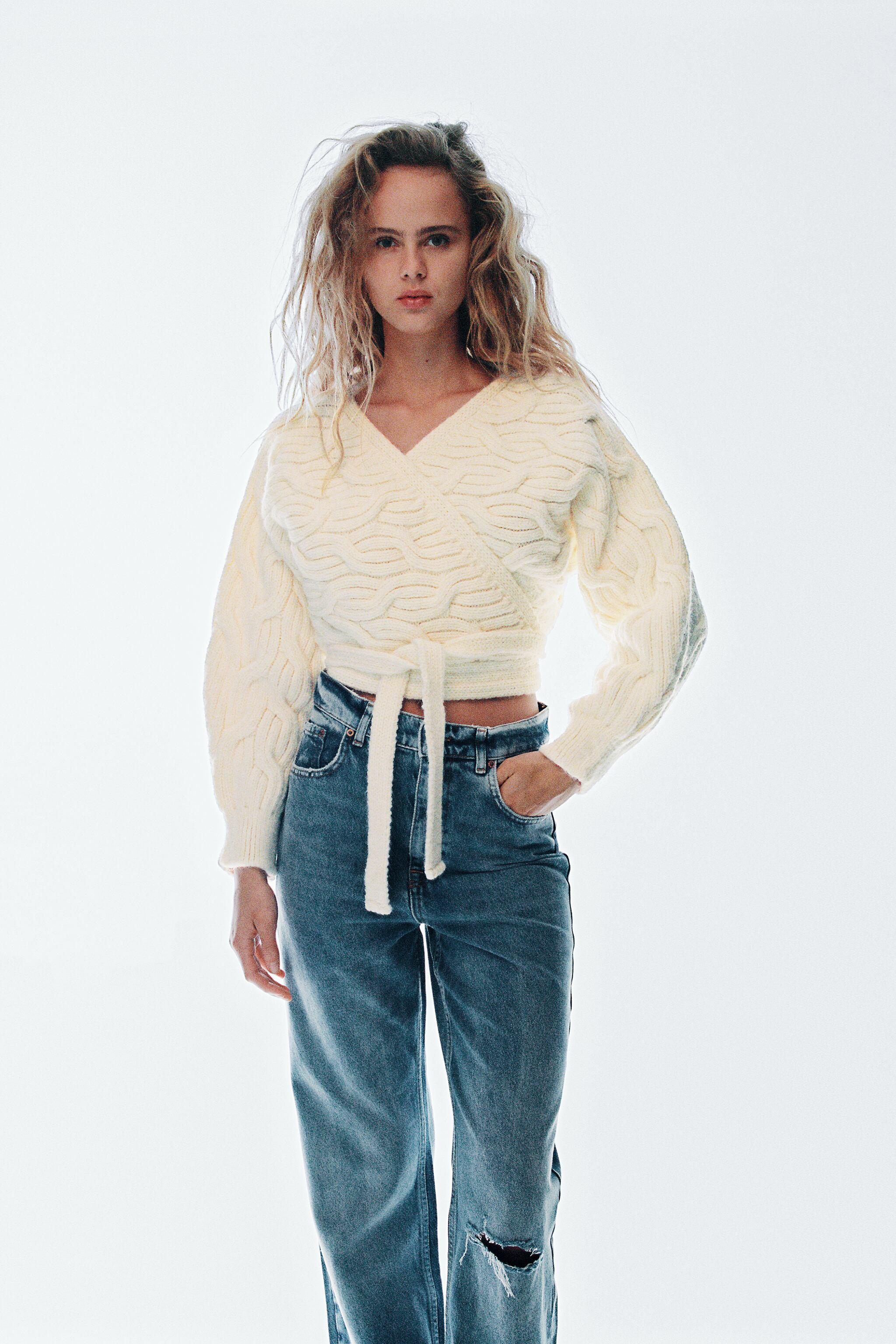 CABLE-KNIT JACKET