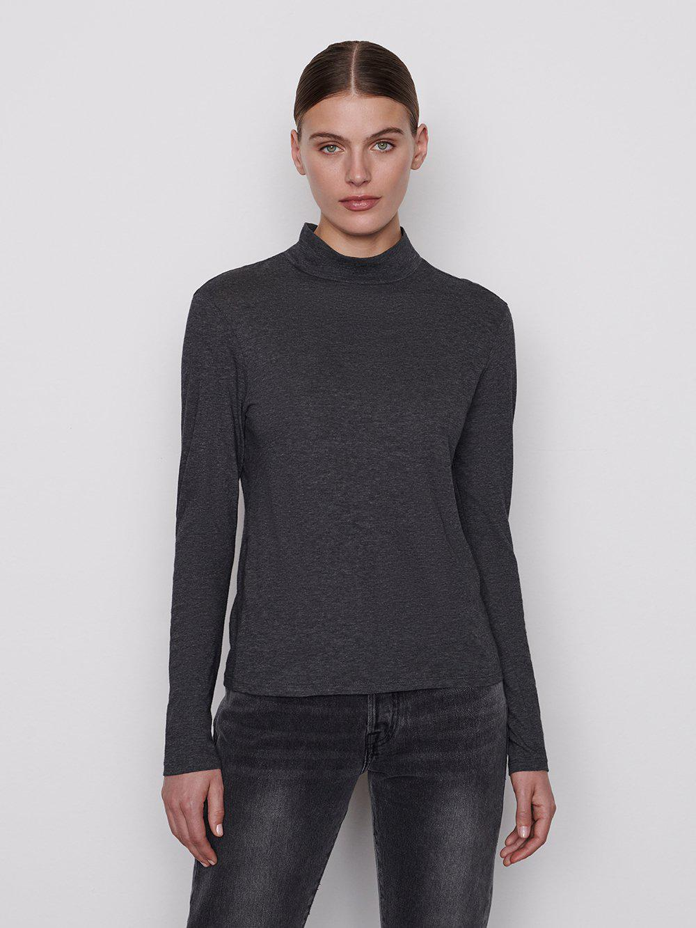 Le Mid Turtle Neck -- Charcoal Heather