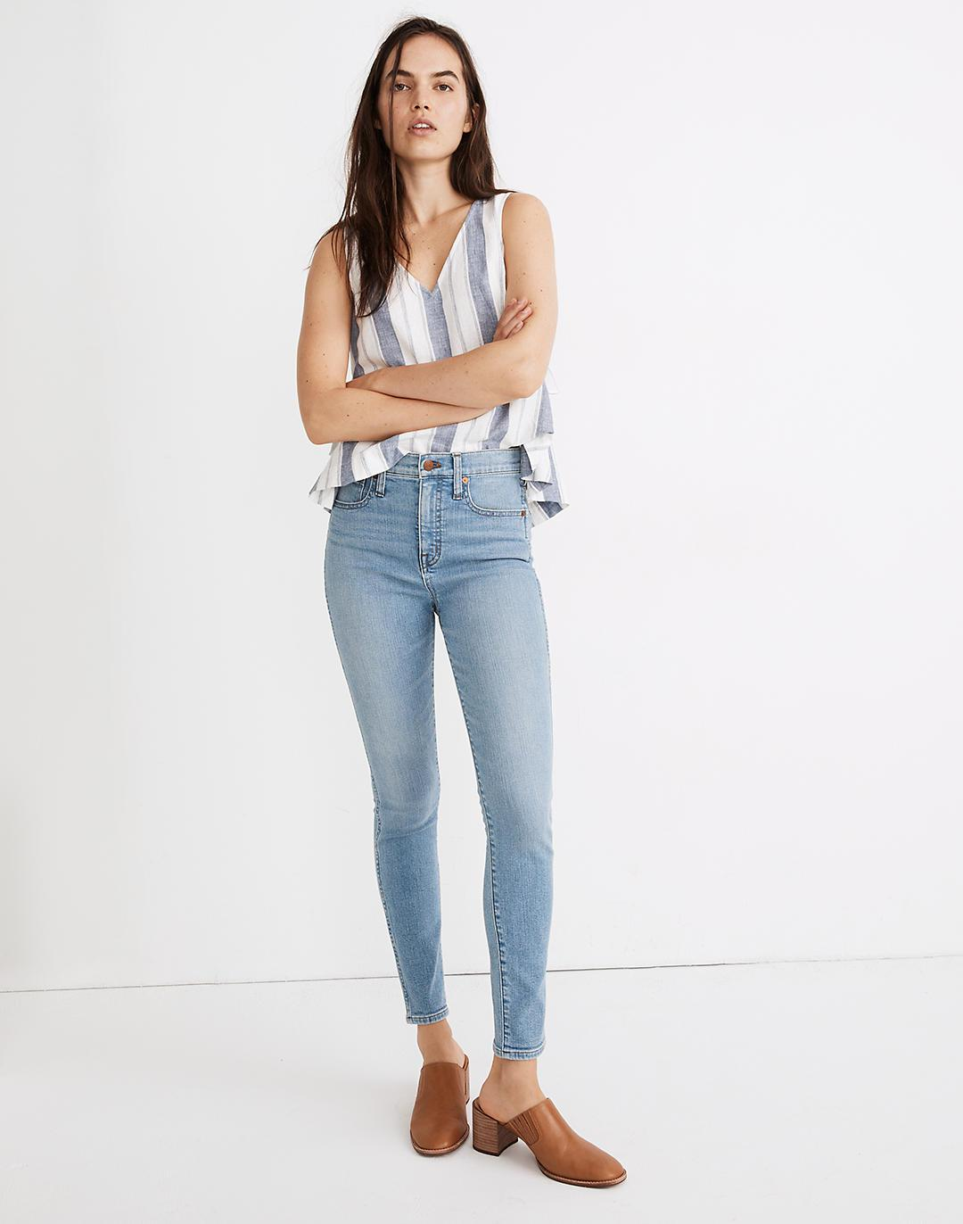 """10"""" High-Rise Skinny Jeans in Annapolis Wash"""