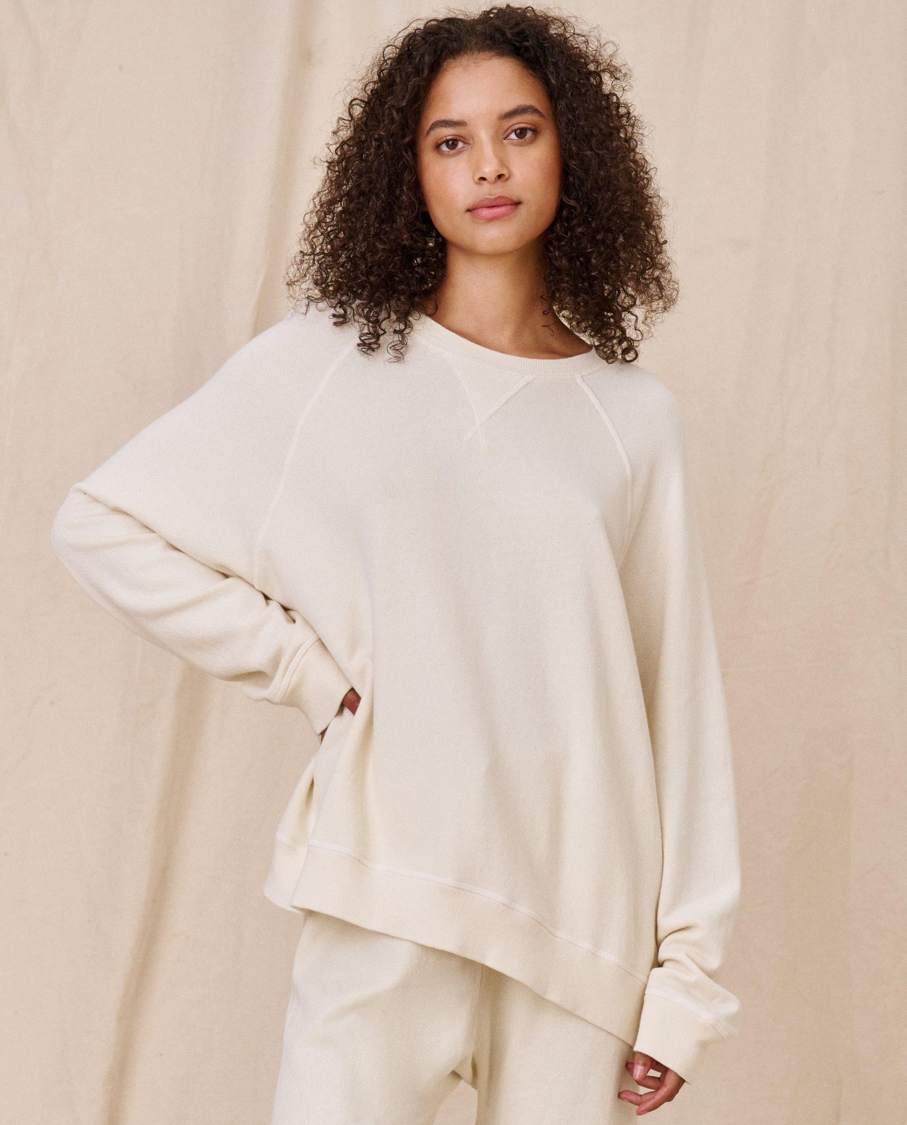 The Slouch Sweatshirt. Solid -- WASHED WHITE