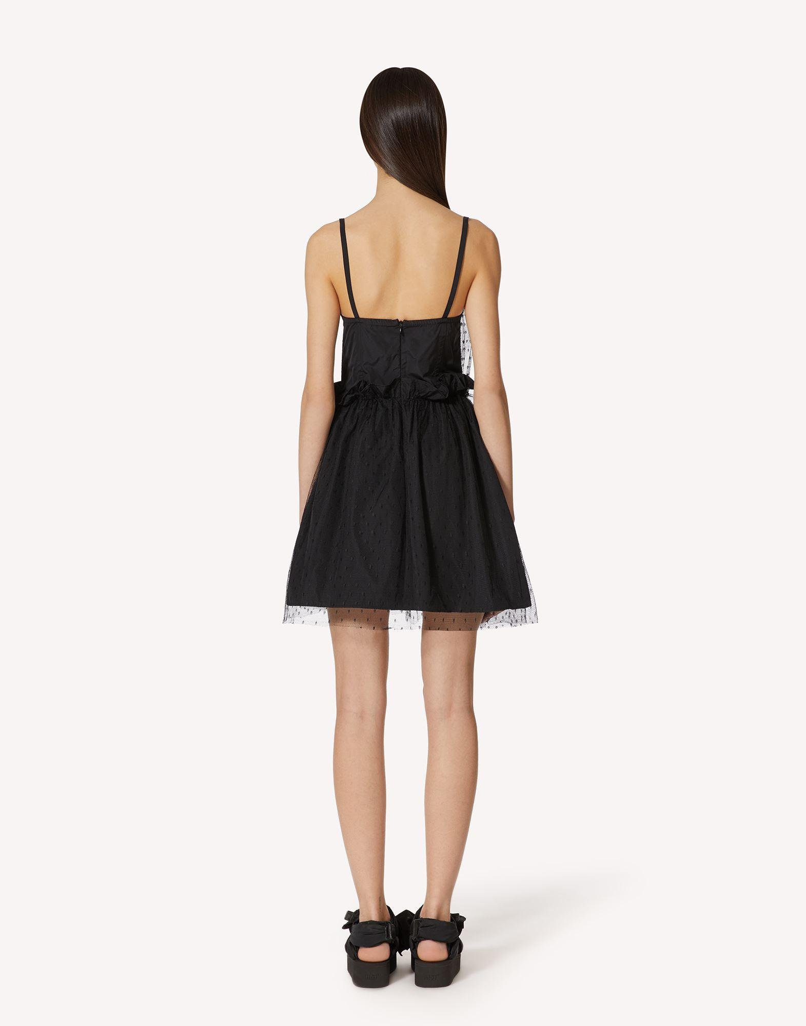 """""""THE BLACK TAG"""". - TAFFETA AND POINT D'ESPRIT TULLE DRESS 1"""