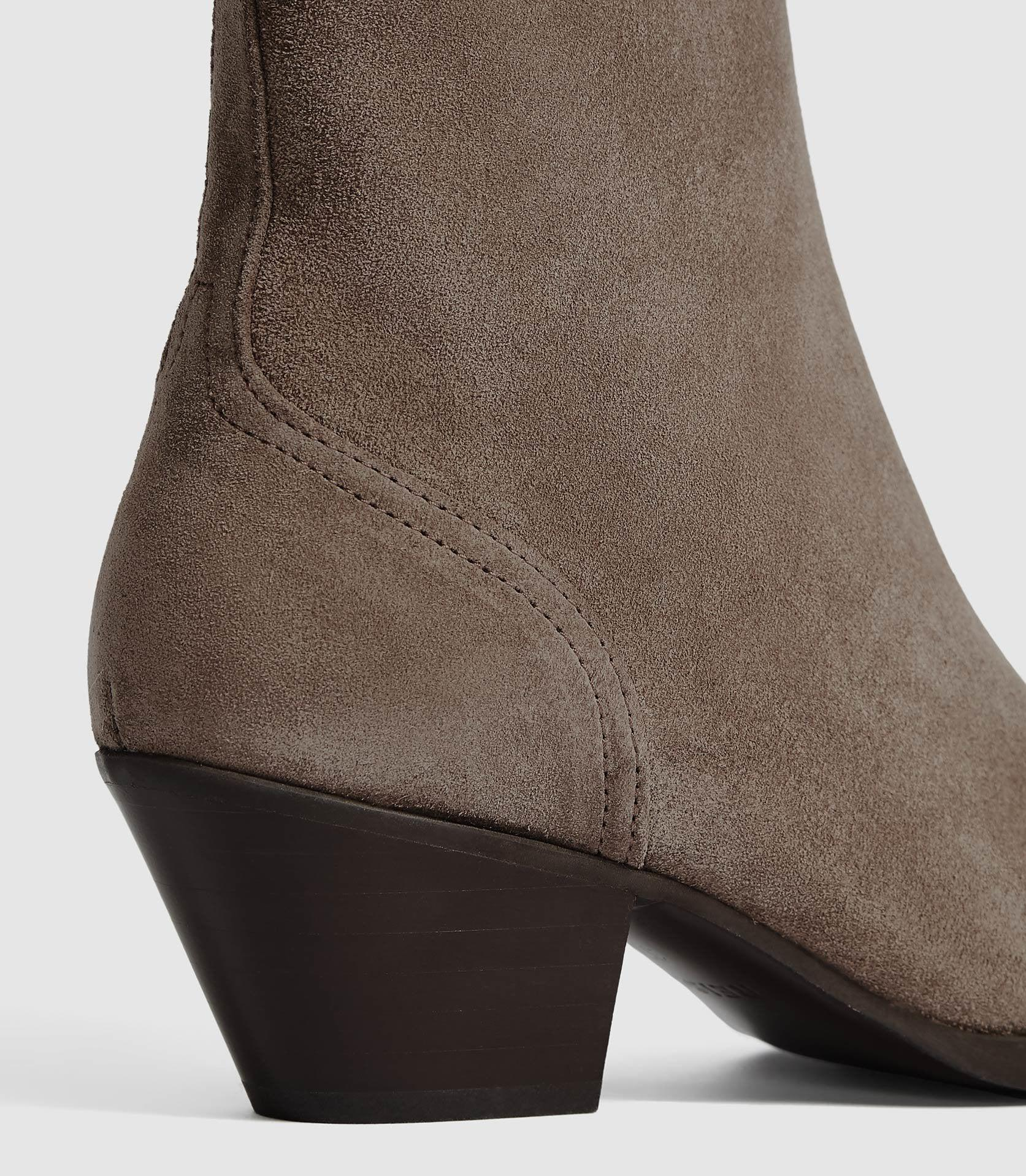 HAYWORTH SUEDE - SUEDE WESTERN ANKLE BOOTS 2