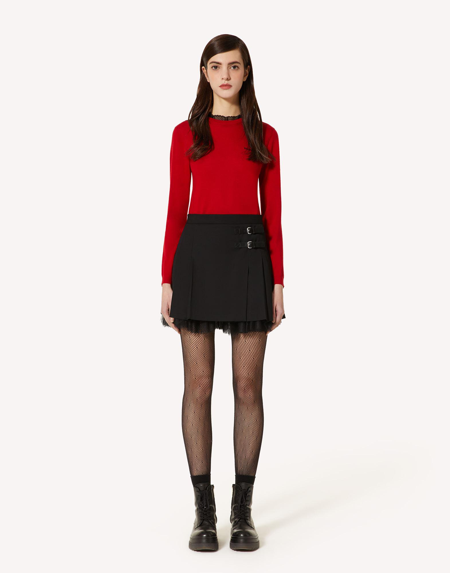 CASHMERE-BLEND SWEATER WITH LACE