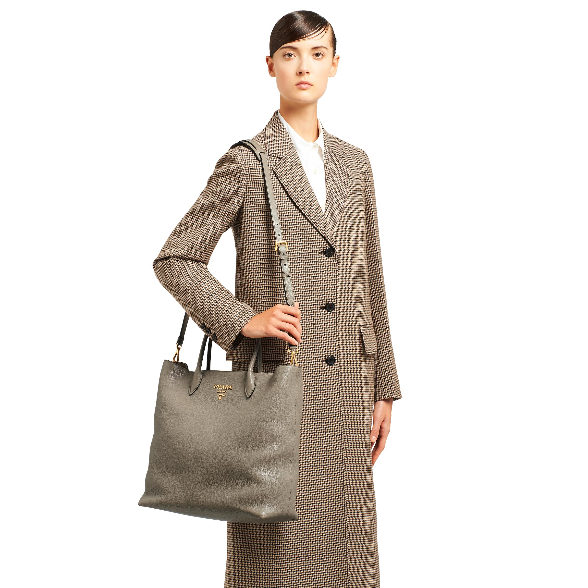 Leather Tote Women Clay Gray 1