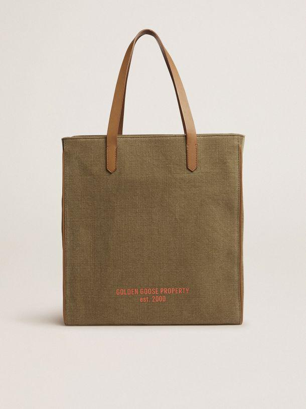 North-South California Bag in military-green canvas