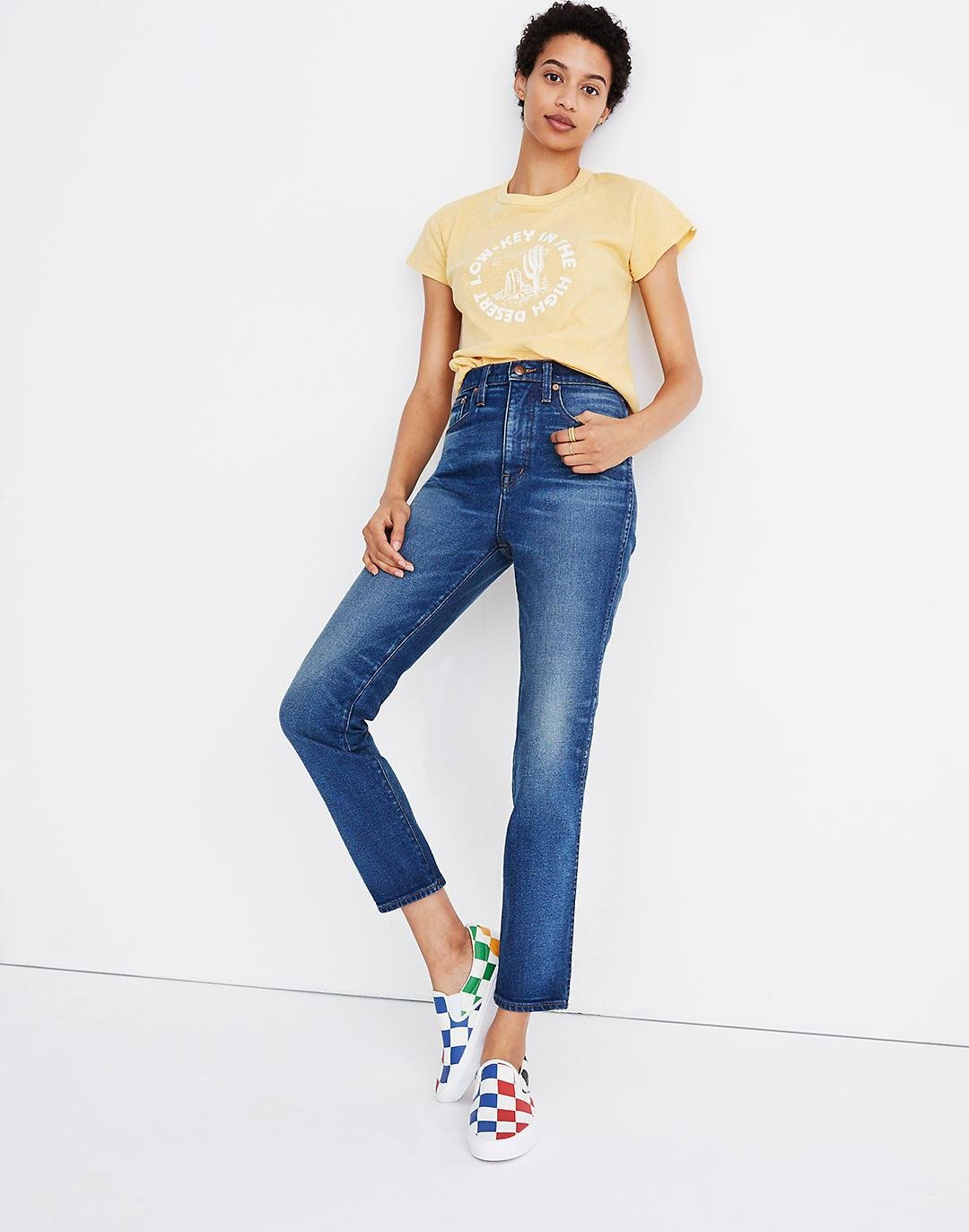 Rivet & Thread High-Rise Stovepipe Jeans in Kingman Wash