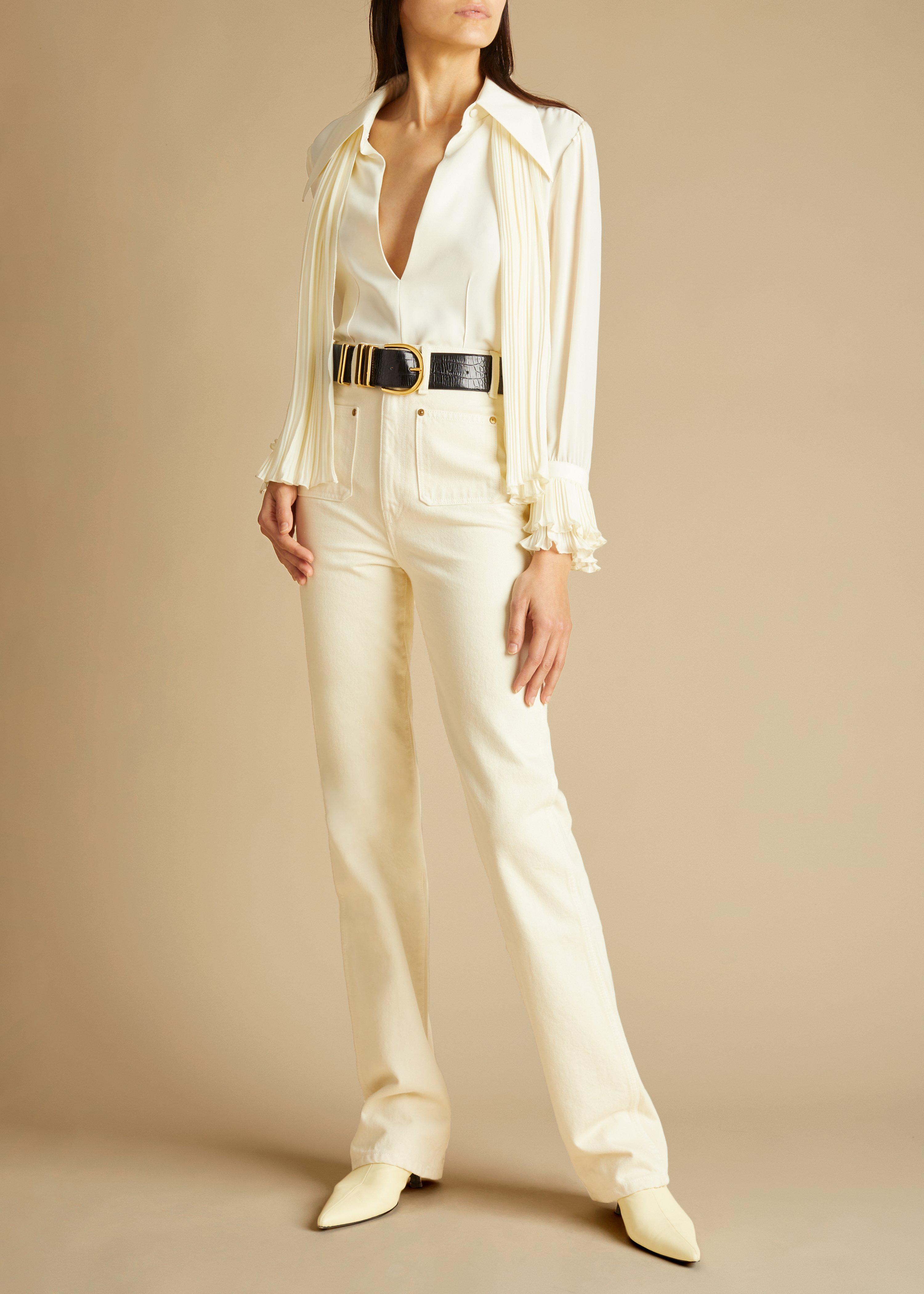 The Nia Top in Ivory 1