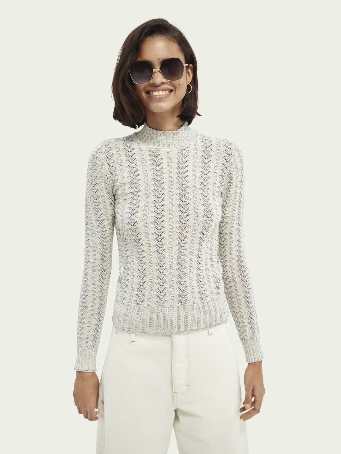Knitted slim-fit sweater