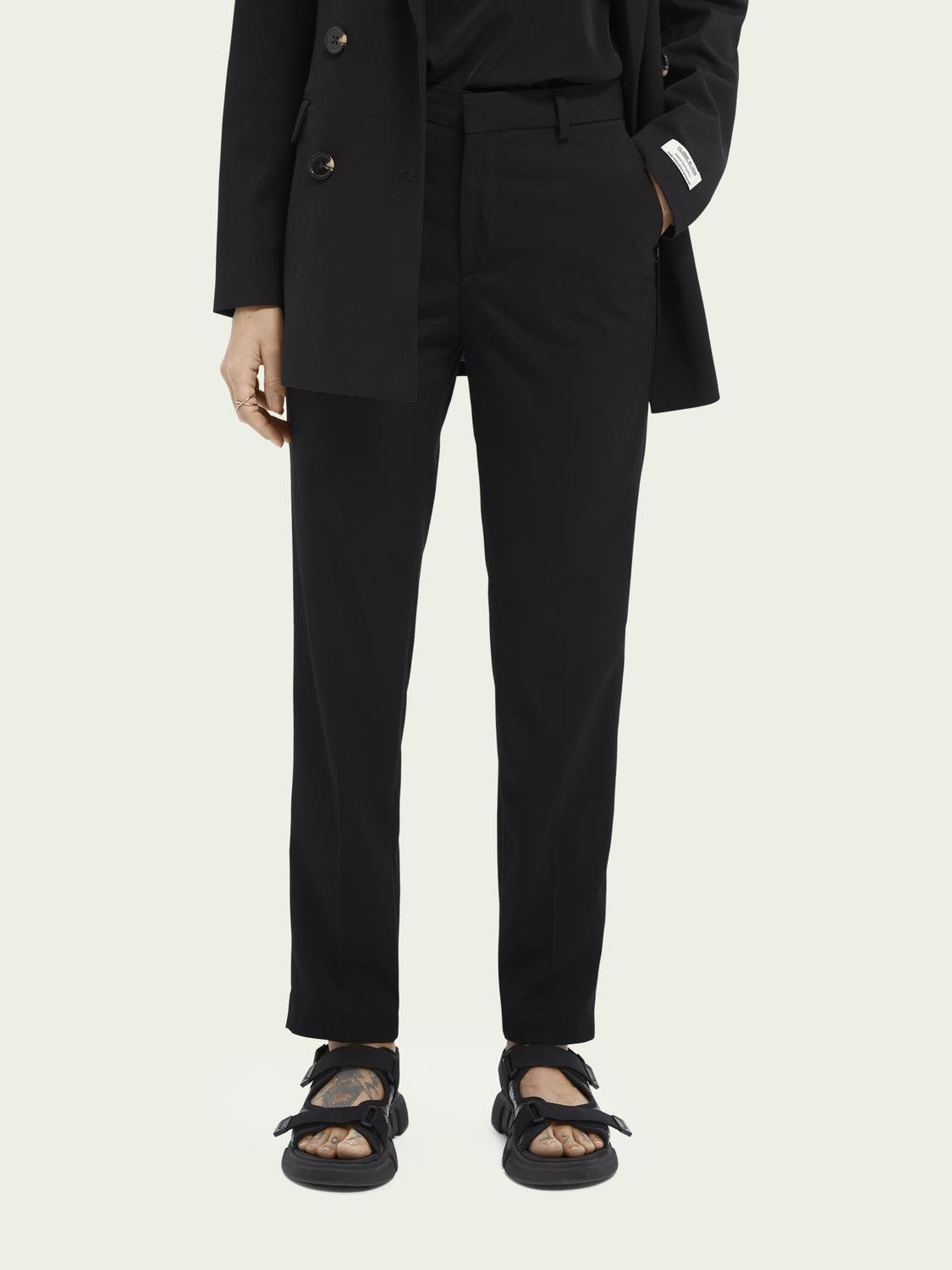 Lowry slim-fit mid-rise trousers