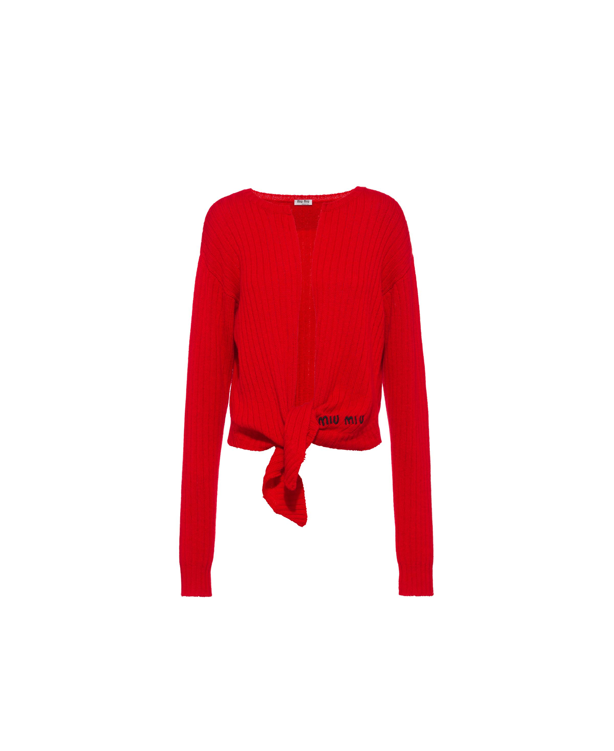 Cashmere Cardigan Women Red
