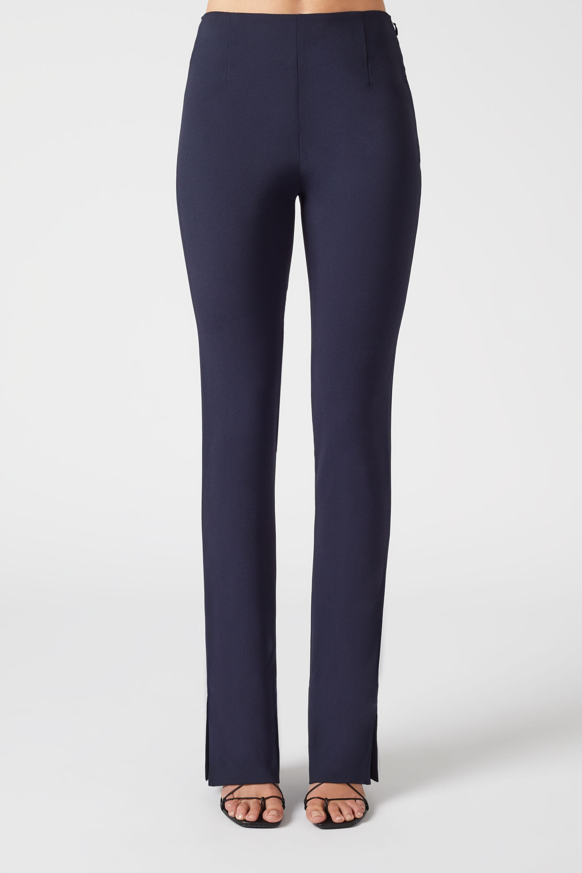Slashed Crepe Trousers - Midnight