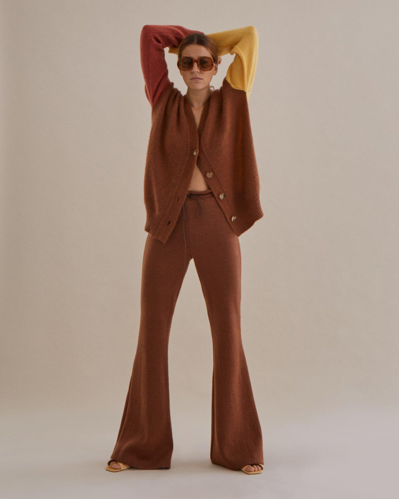 Cecilia Trousers Mohair Blend Brown