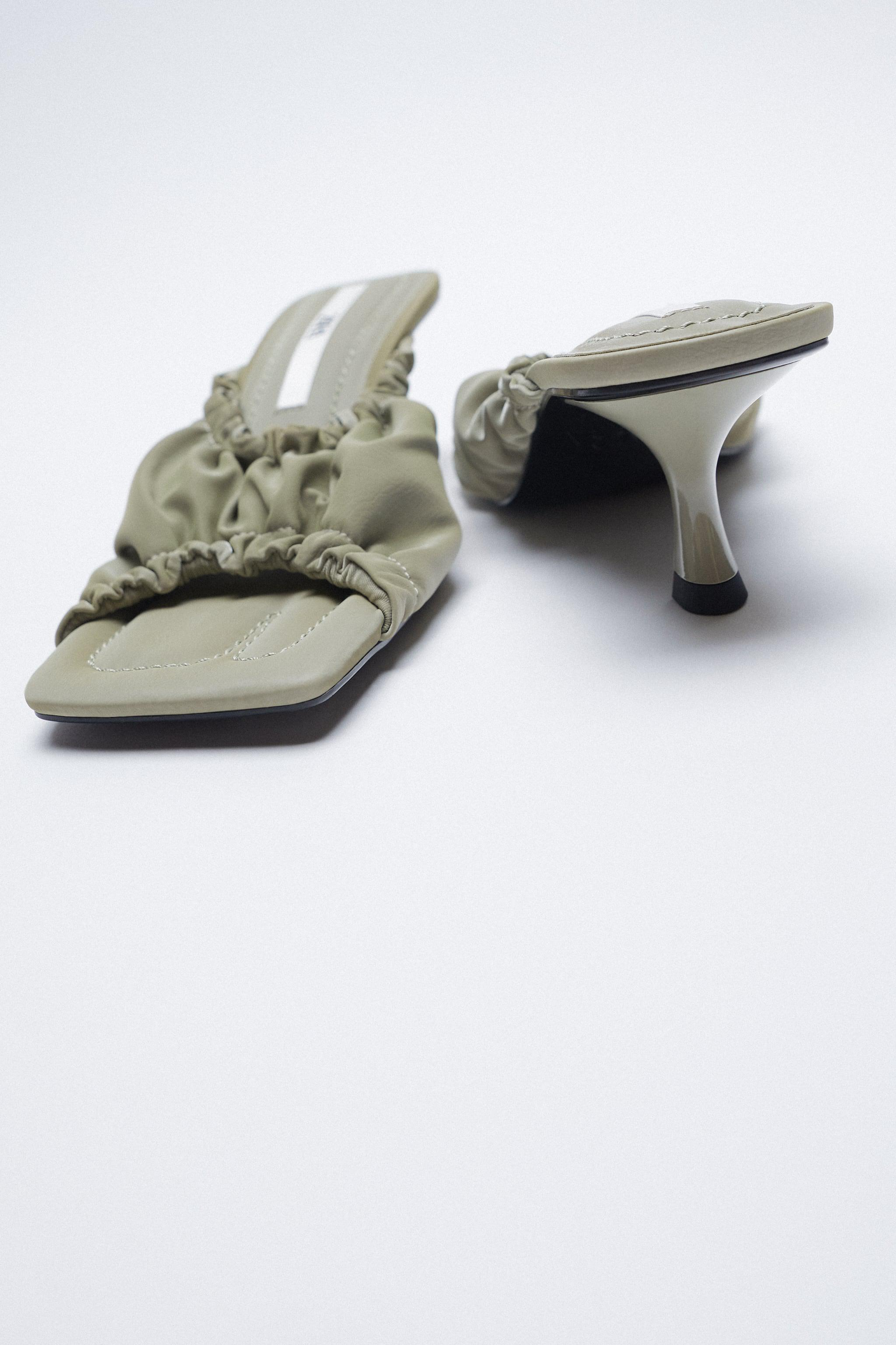 RUCHED HEELED SANDALS 5