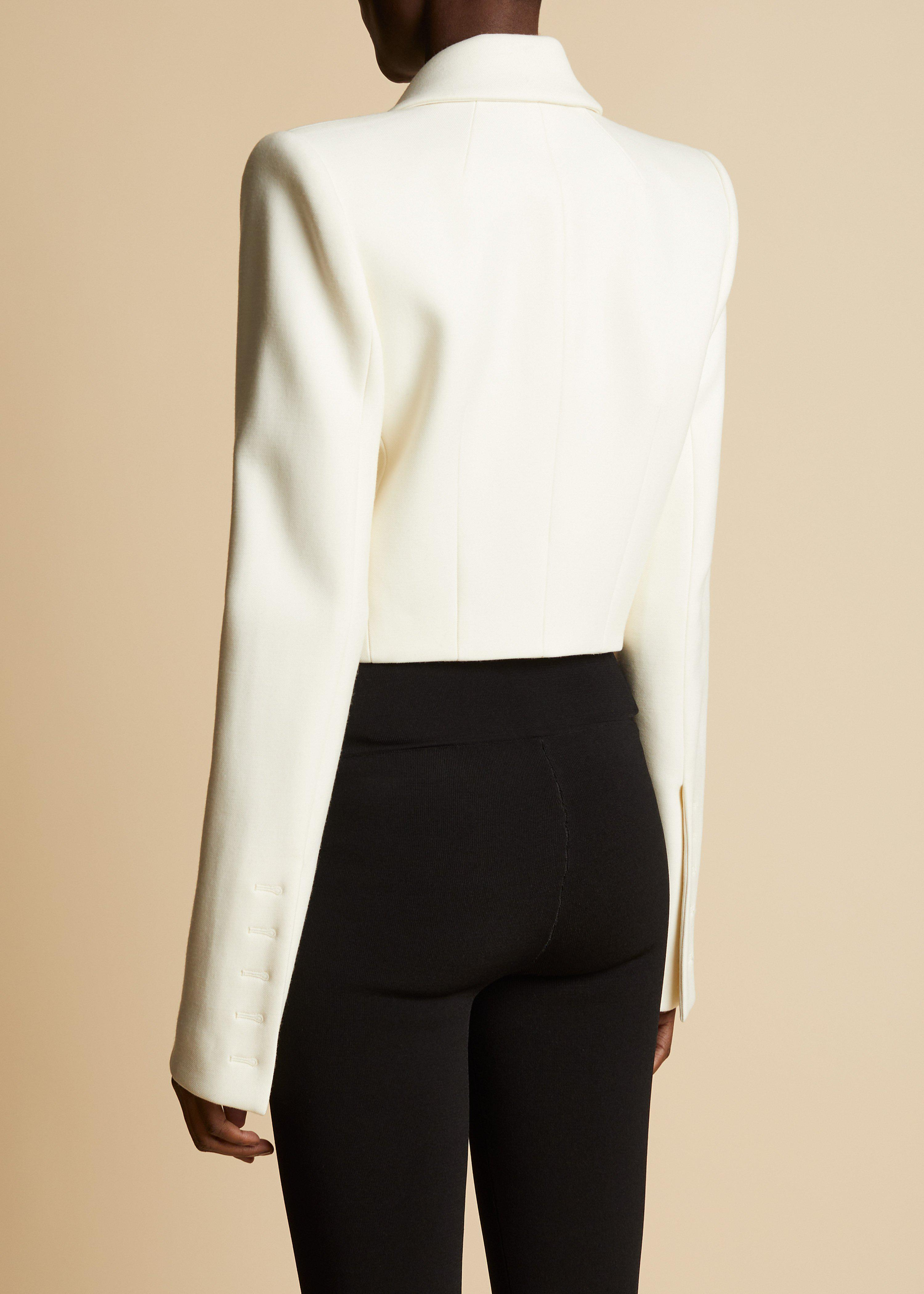 The Lucille Blazer in Ivory 2