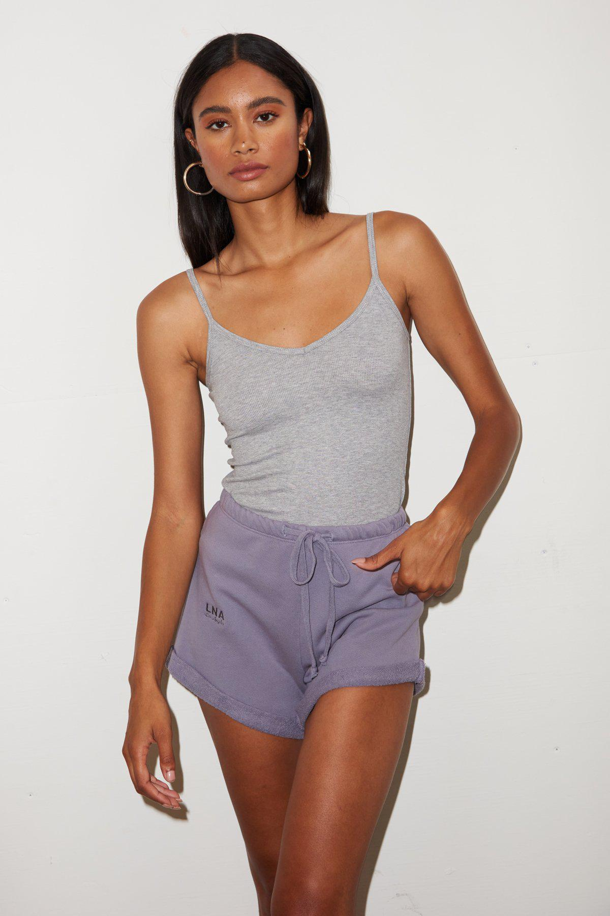 Rolled Logo Short - Lilac Stone 2