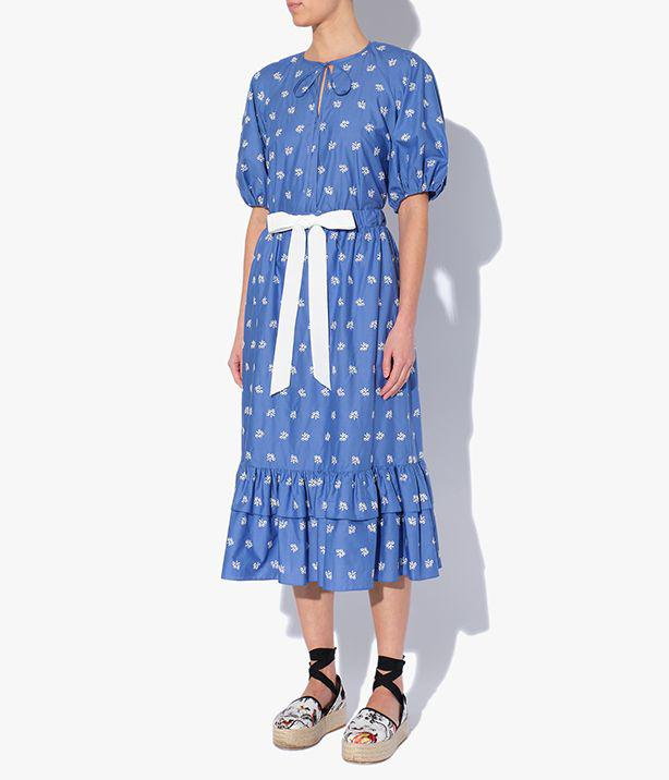 Corsica Skirt Ditsy Embroidered Cotton Poplin