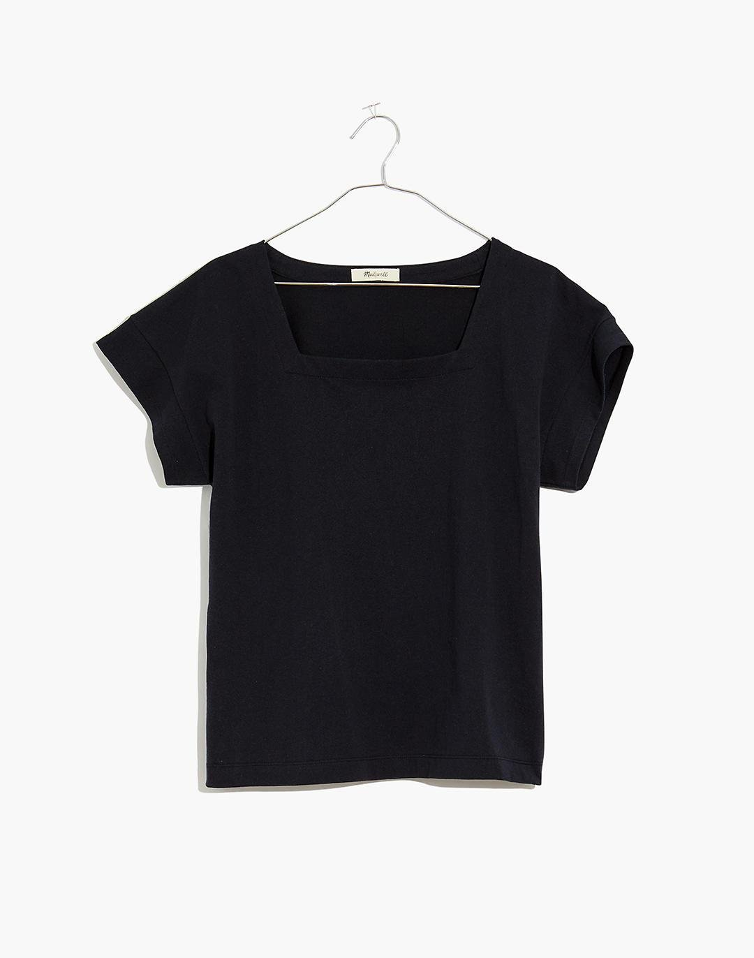 Knit Square-Neck Top