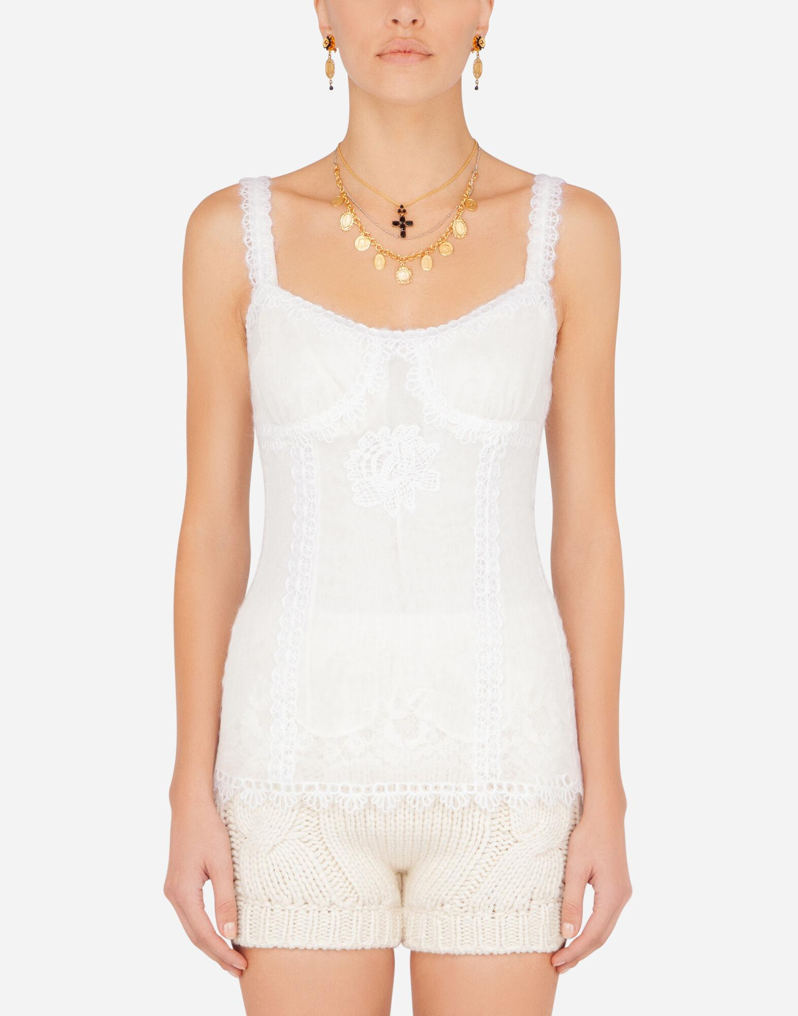 Tulle tank top with embroidery