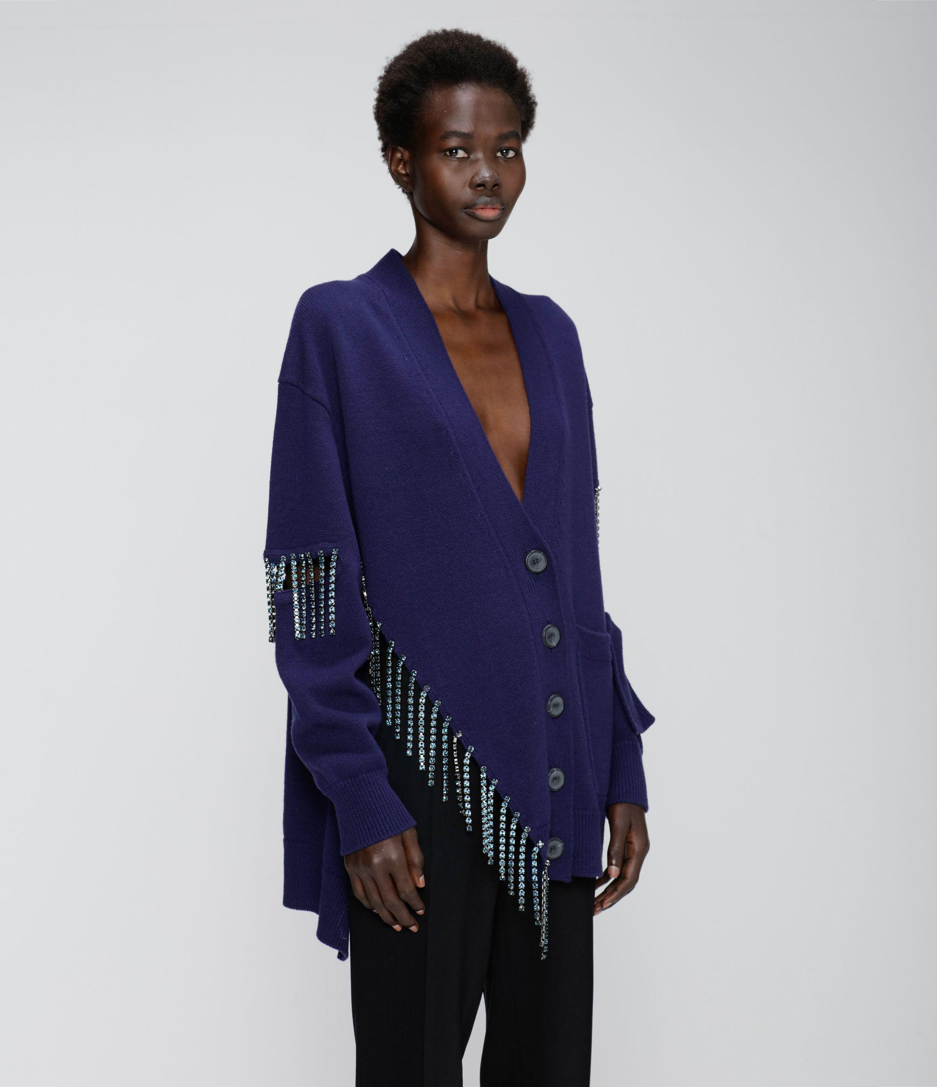 cut-out cupchain knitted cardigan 1