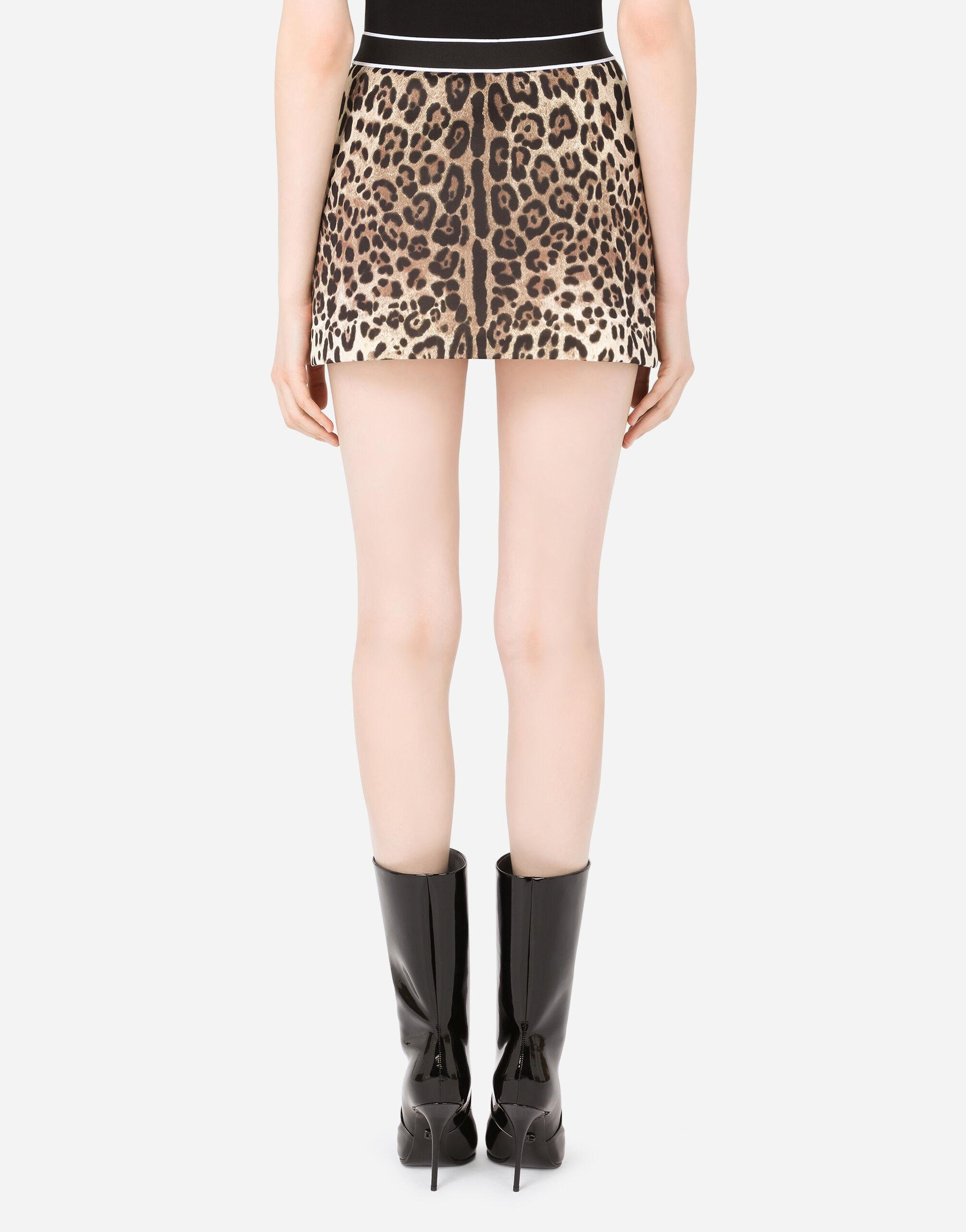 Technical jersey miniskirt with branded elastic 1