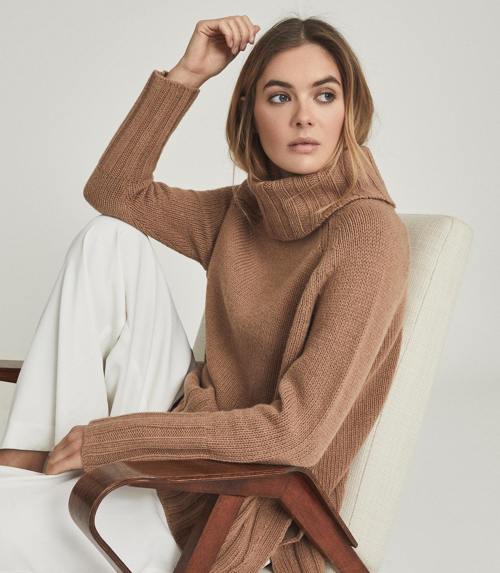 EVE - WOOL CASHMERE BLEND ROLL NECK 4