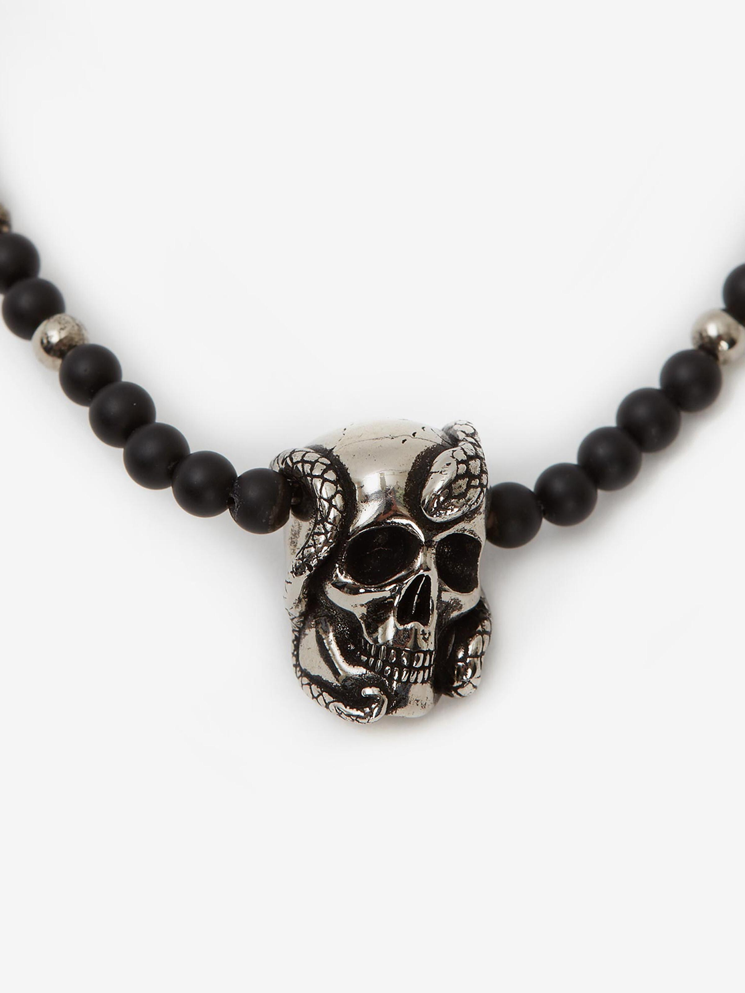 Beads and Skull Short Necklace 1