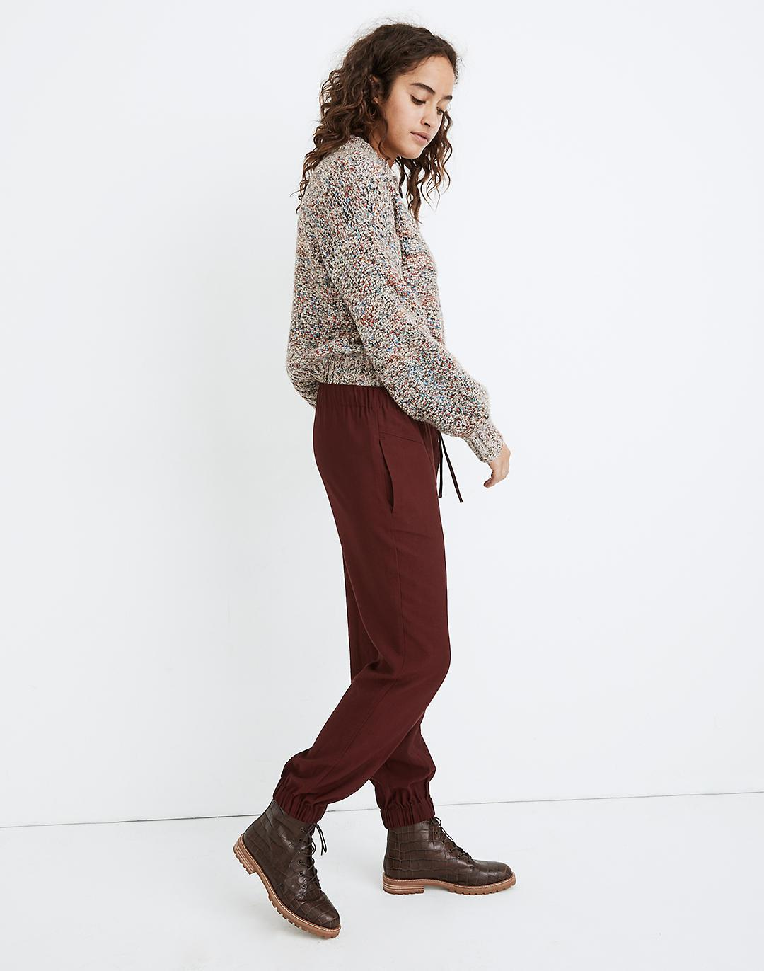Drapey Seamed Track Trousers 1