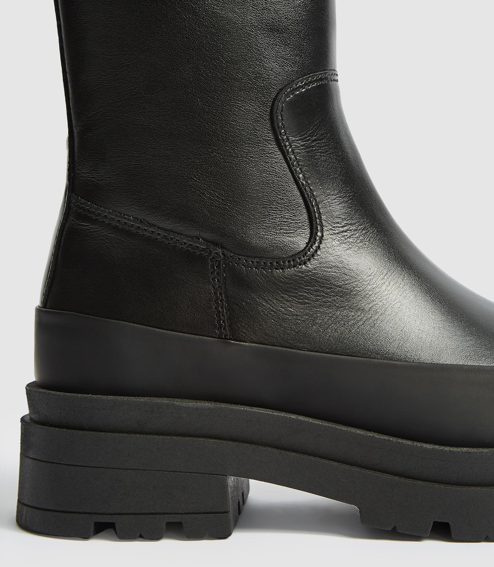 AVE - LEATHER STOMPER BOOTS 2
