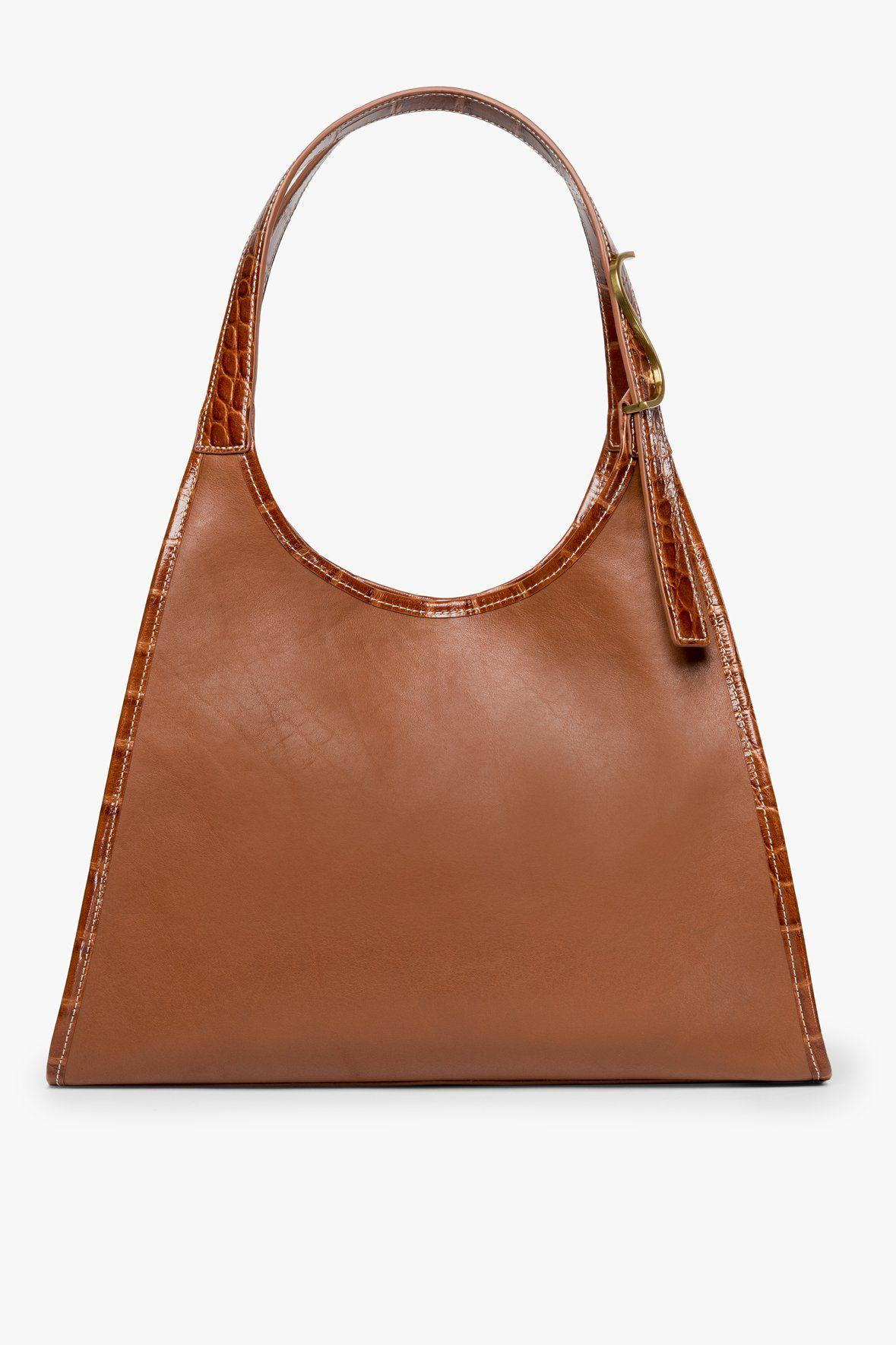 SOFT REY LEATHER TOTE | TAN