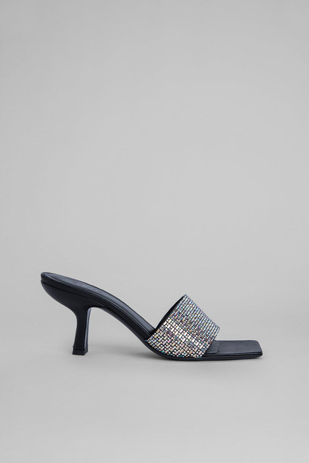 Dylan Black Leather and Crystals