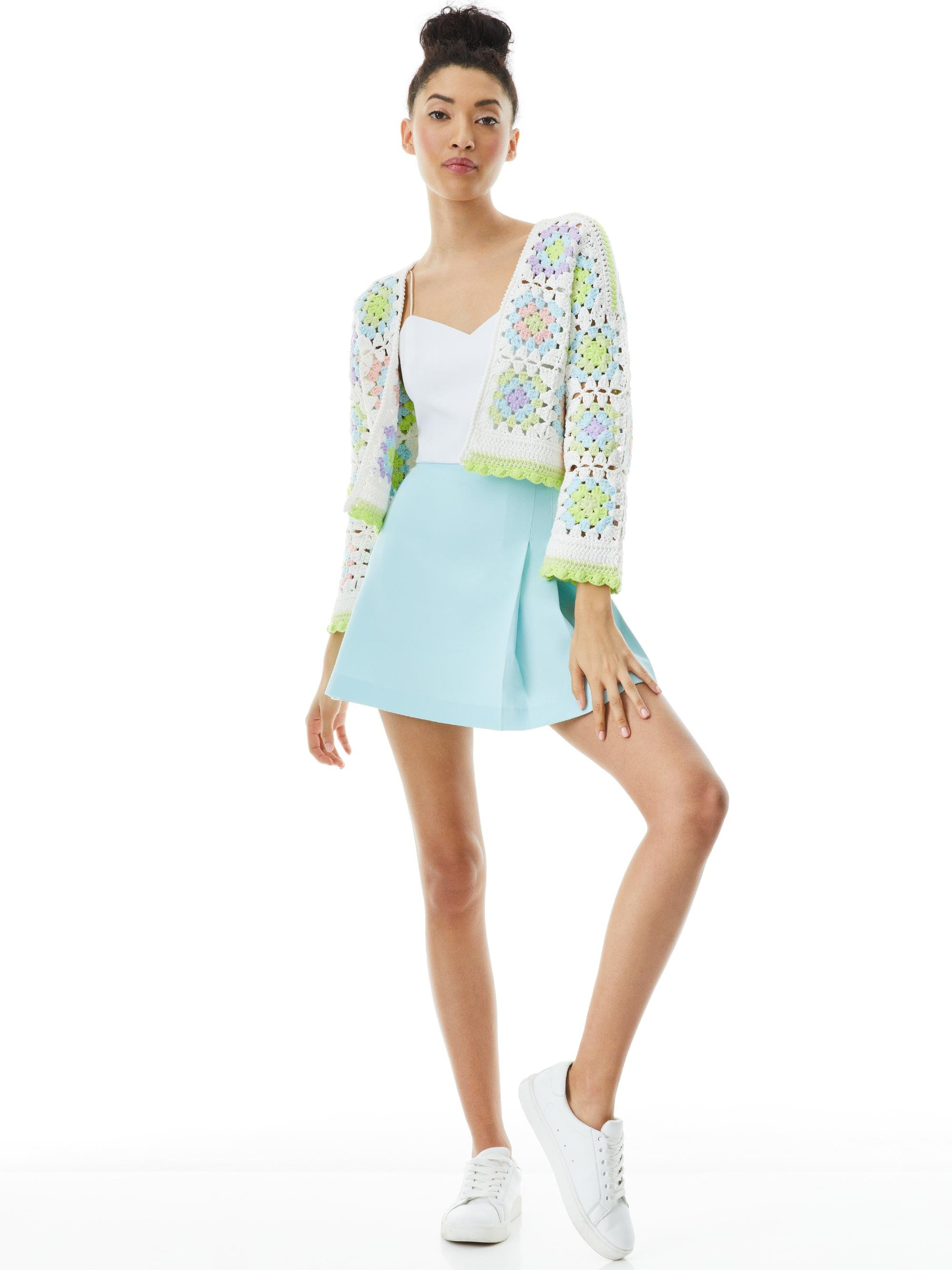 ANDERSON CROPPED CROCHETED CARDIGAN 2