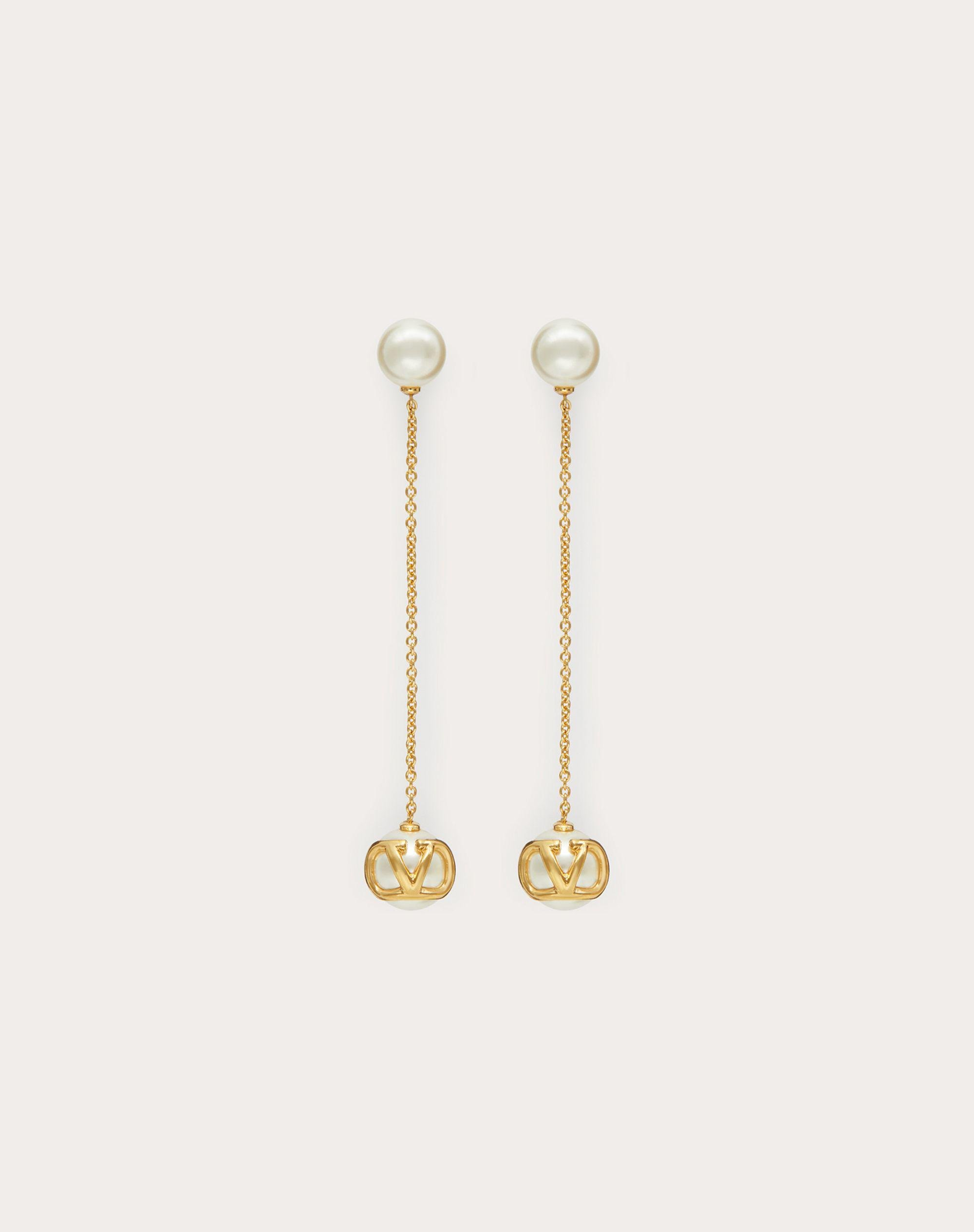 VLogo Signature earrings with pearls