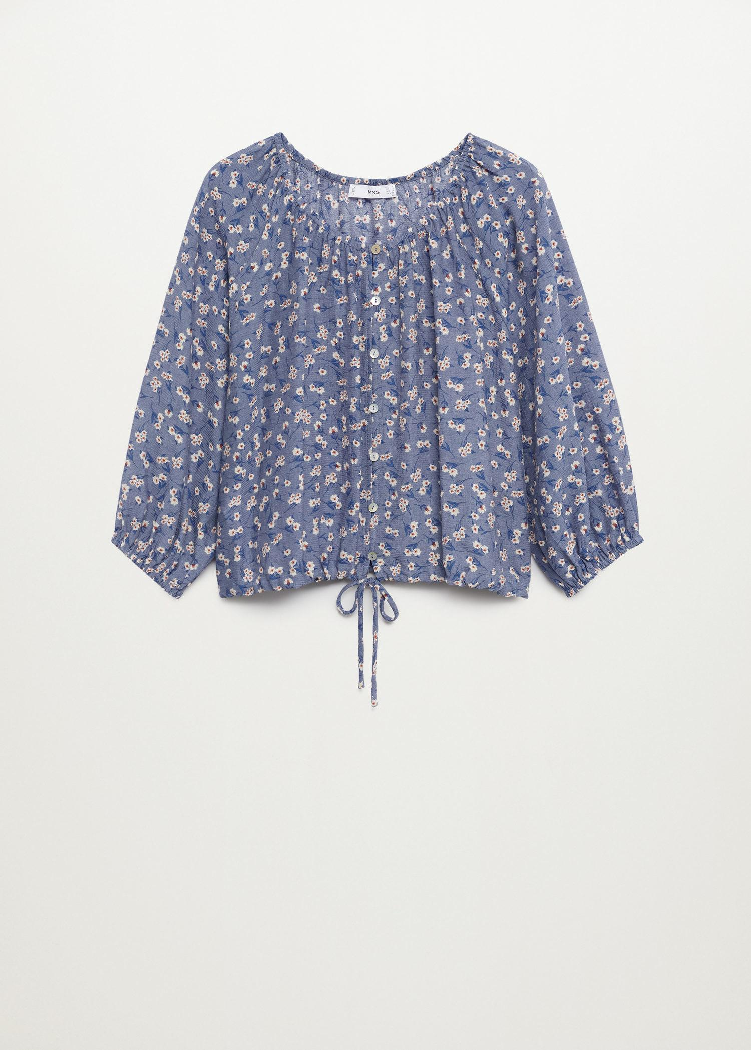 Buttoned printed blouse 7