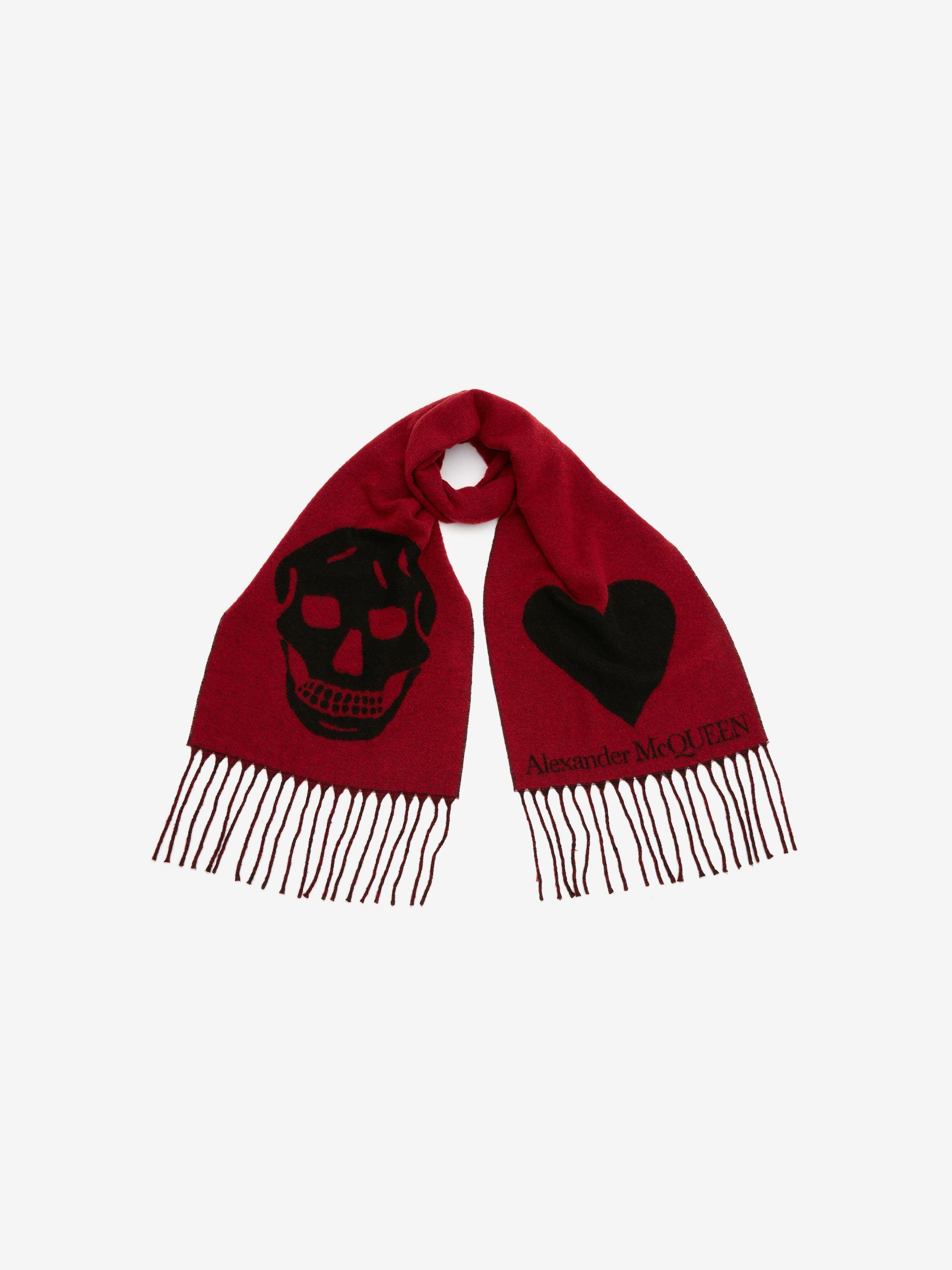 Skull and Heart Scarf 2