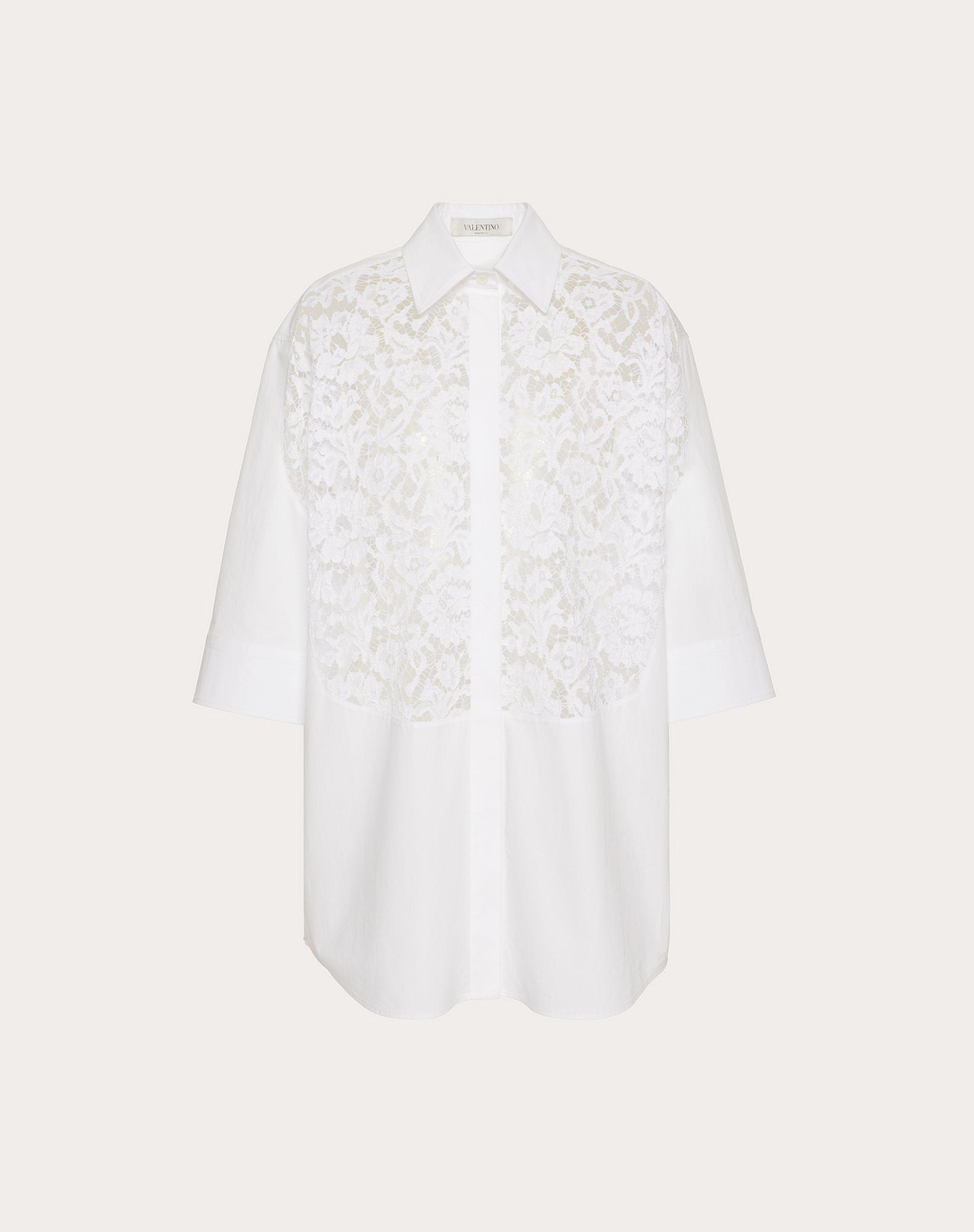 COTTON POPLIN AND HEAVY LACE SHIRT 4