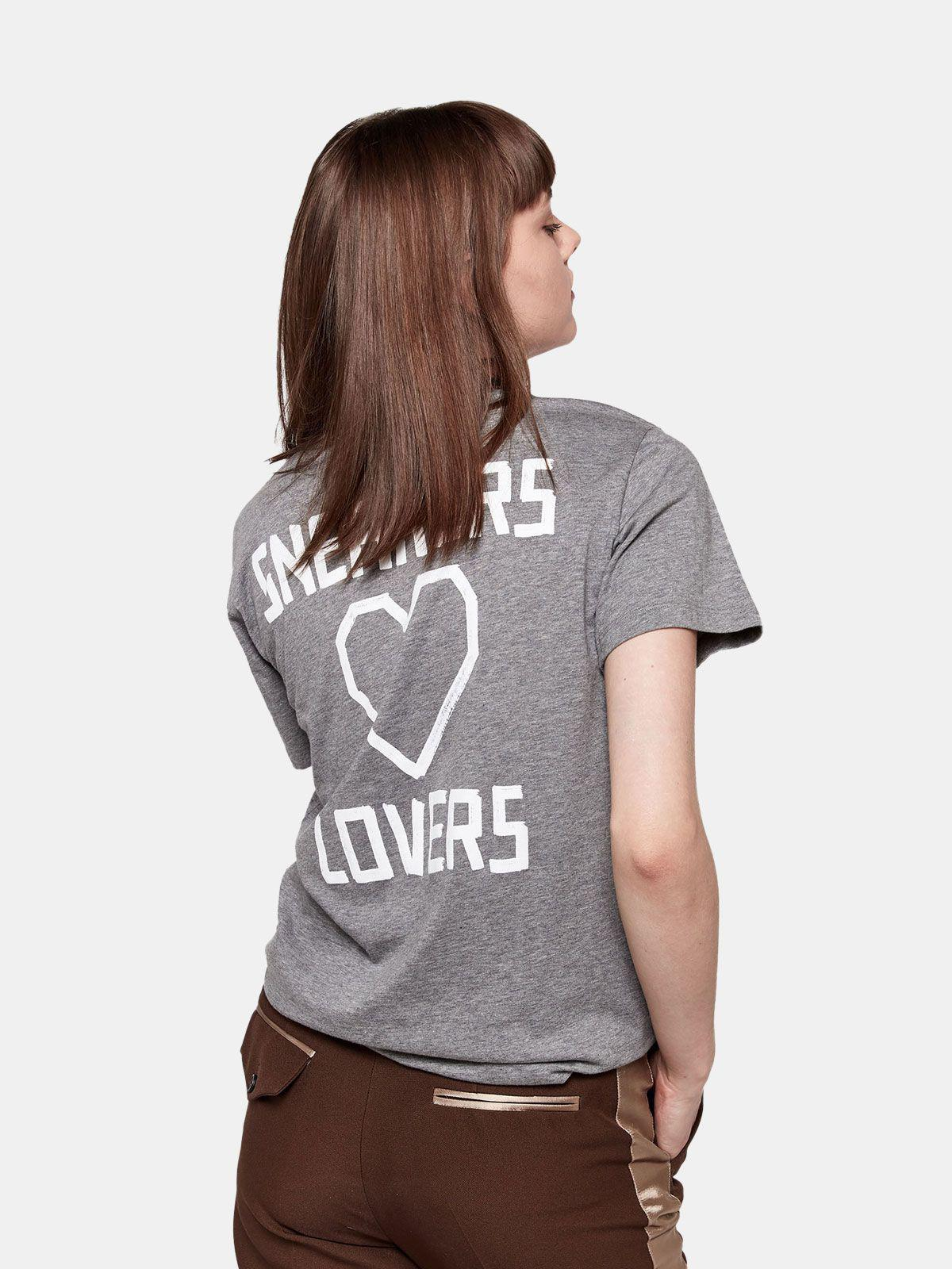 Grey Golden T-shirt with Sneakers Lovers print 3